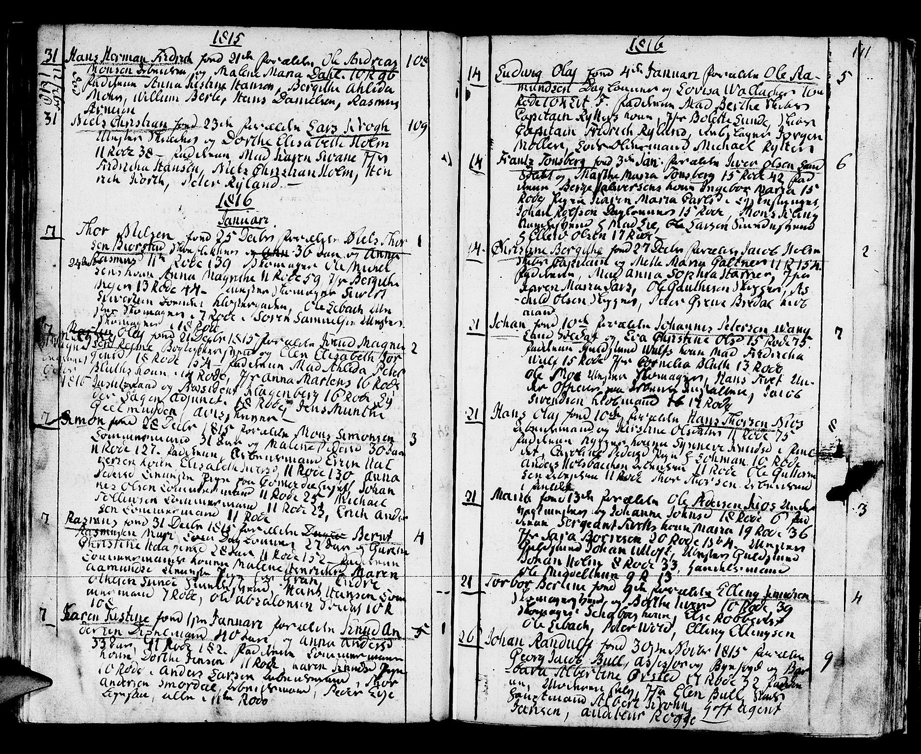 SAB, Domkirken Sokneprestembete, H/Haa/L0005: Ministerialbok nr. A 5, 1808-1820, s. 110-111