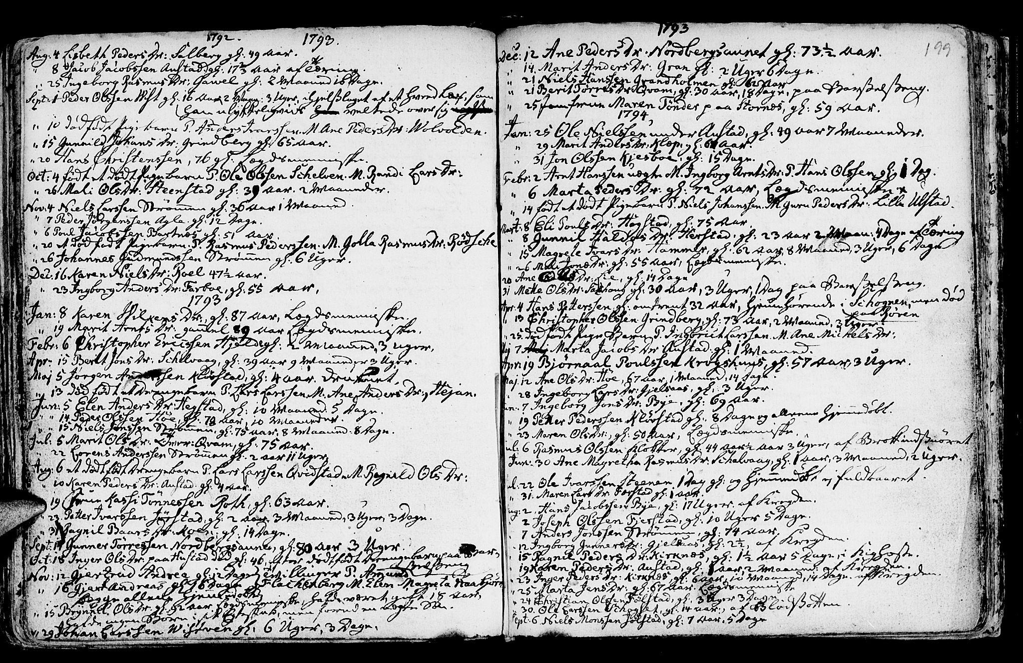 SAT, Ministerialprotokoller, klokkerbøker og fødselsregistre - Nord-Trøndelag, 730/L0273: Ministerialbok nr. 730A02, 1762-1802, s. 199