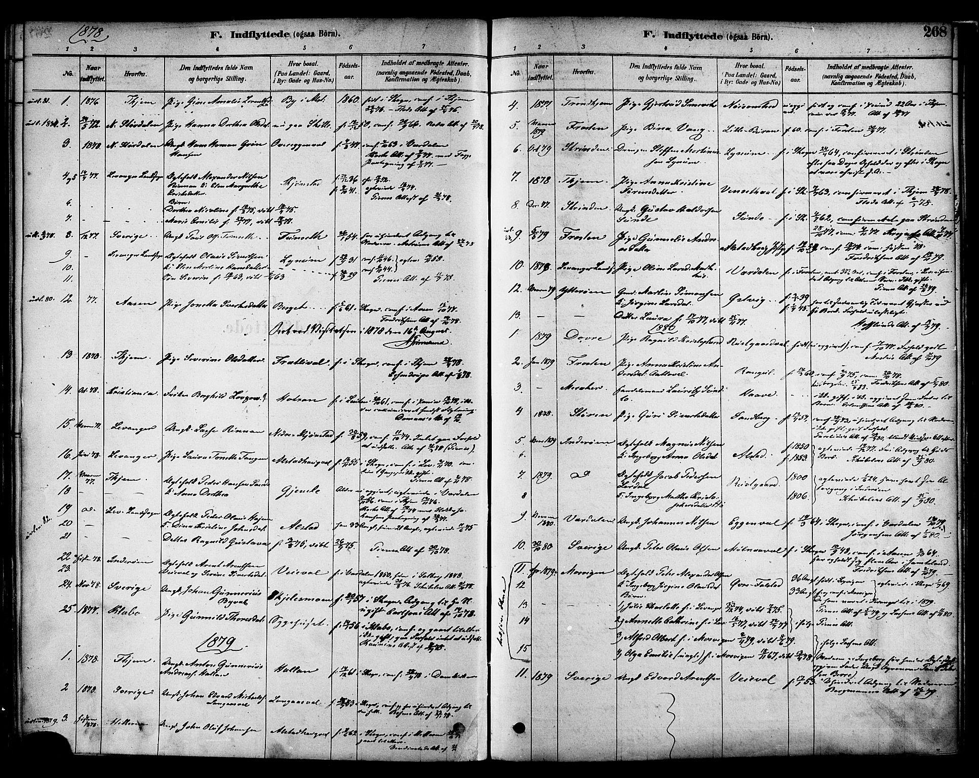 SAT, Ministerialprotokoller, klokkerbøker og fødselsregistre - Nord-Trøndelag, 717/L0159: Ministerialbok nr. 717A09, 1878-1898, s. 268