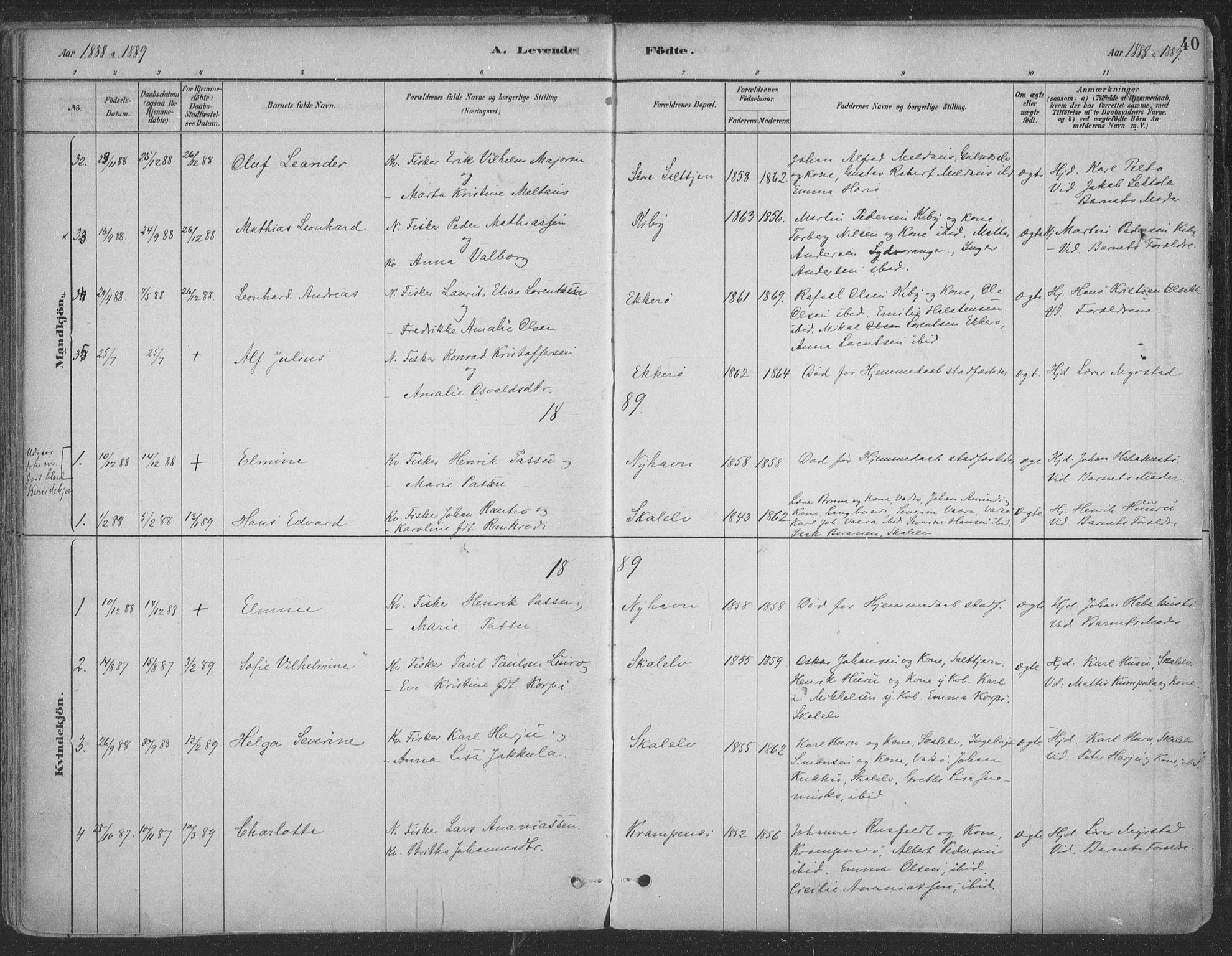 SATØ, Vadsø sokneprestkontor, H/Ha/L0009kirke: Ministerialbok nr. 9, 1881-1917, s. 40