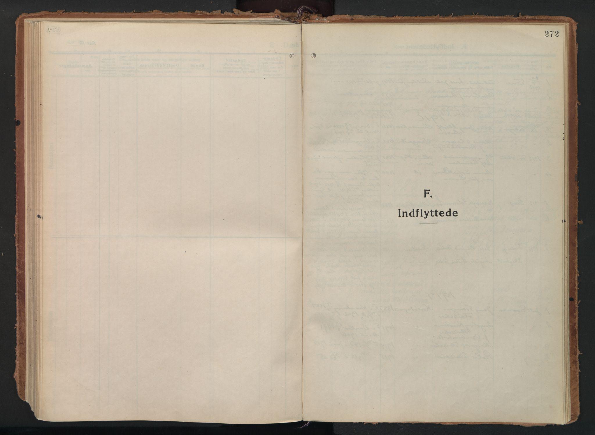 SAO, Moss prestekontor Kirkebøker, F/Fc/Fac/L0004: Ministerialbok nr. III 4, 1915-1929, s. 272