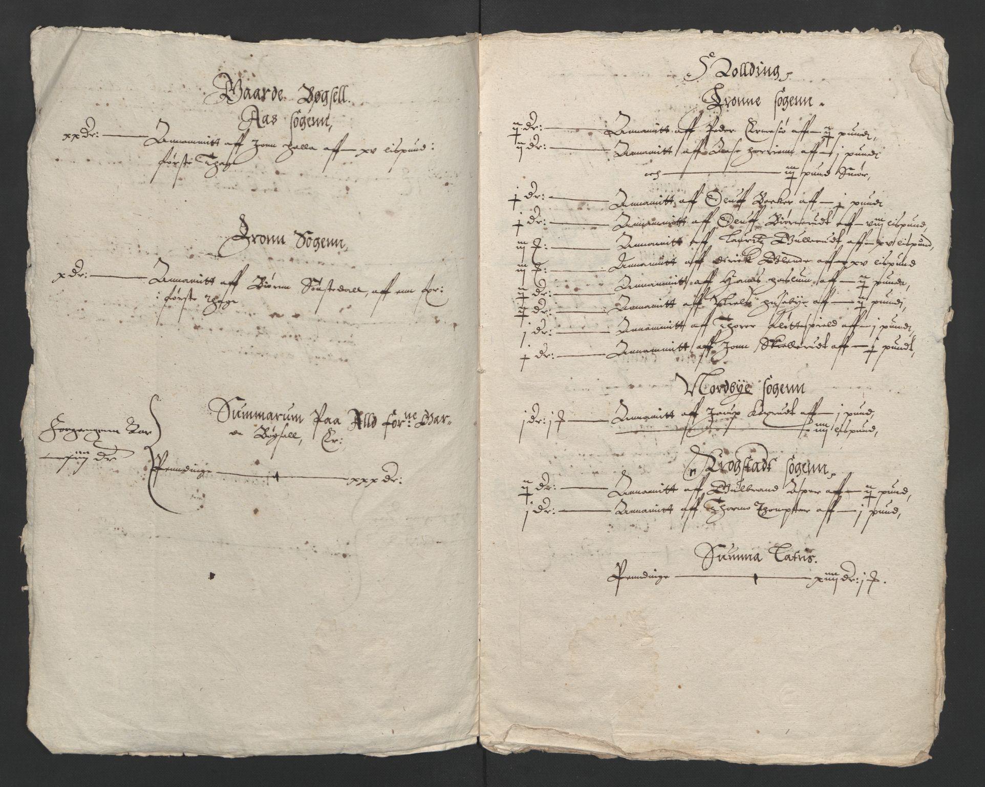 RA, Rentekammeret inntil 1814, Reviderte regnskaper, Lensregnskaper, R/Rb/Rba/L0047: Akershus len, 1618-1619
