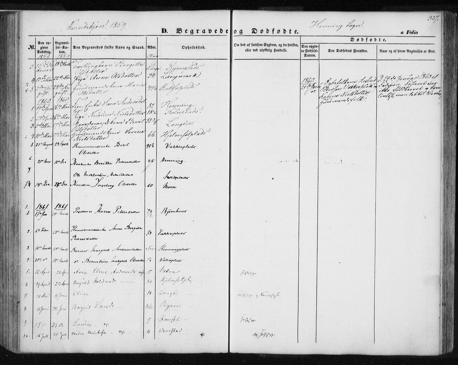 SAT, Ministerialprotokoller, klokkerbøker og fødselsregistre - Nord-Trøndelag, 735/L0342: Ministerialbok nr. 735A07 /3, 1849-1862, s. 327