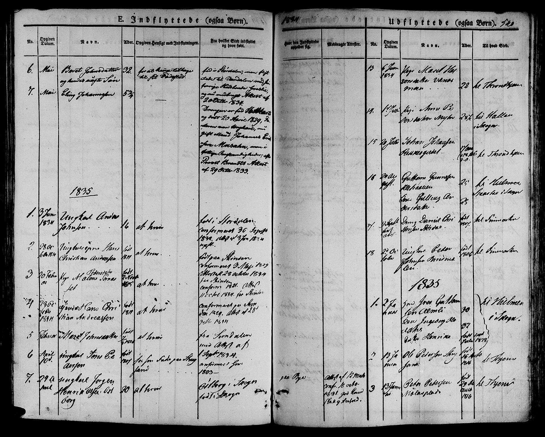 SAT, Ministerialprotokoller, klokkerbøker og fødselsregistre - Nord-Trøndelag, 709/L0072: Ministerialbok nr. 709A12, 1833-1844, s. 540