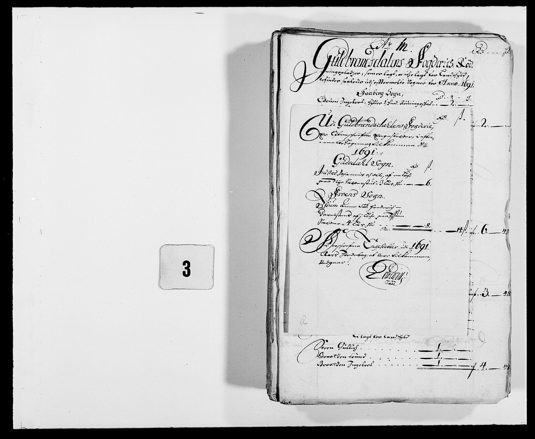 RA, Rentekammeret inntil 1814, Reviderte regnskaper, Fogderegnskap, R17/L1165: Fogderegnskap Gudbrandsdal, 1690-1692, s. 205