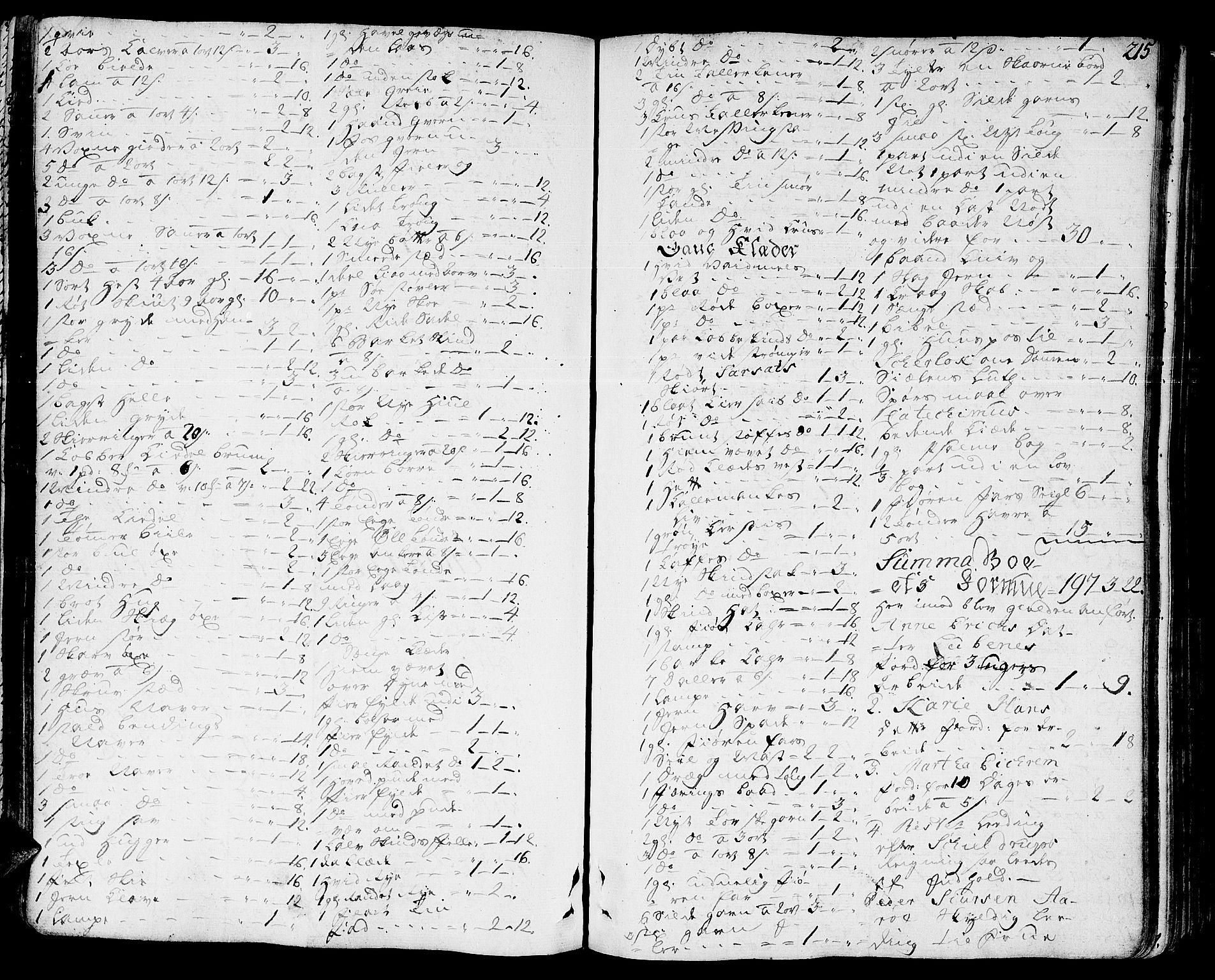 SAT, Romsdal sorenskriveri, 3/3A/L0010: Skifteprotokoll, 1774-1782, s. 214b-215a