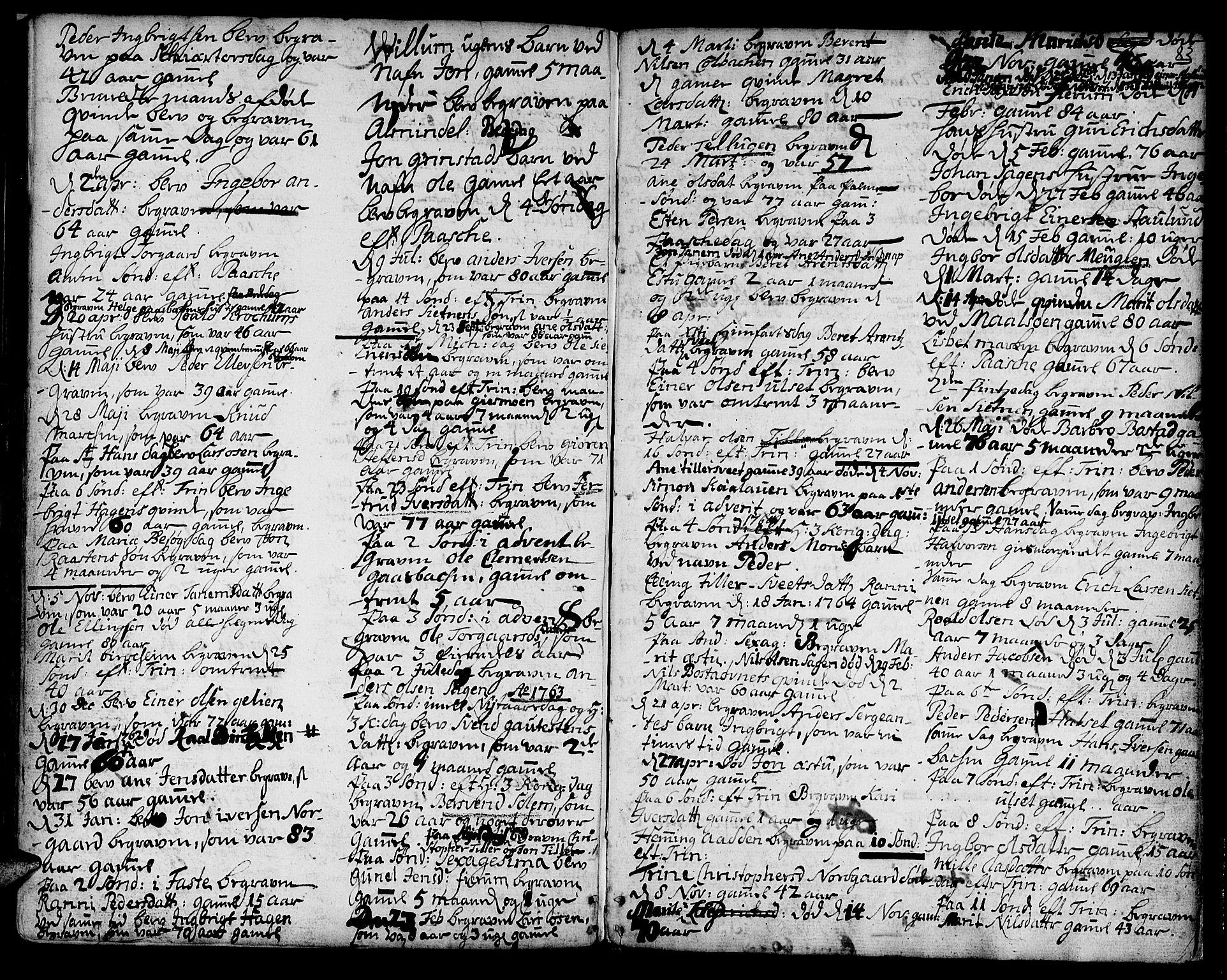 SAT, Ministerialprotokoller, klokkerbøker og fødselsregistre - Sør-Trøndelag, 618/L0437: Ministerialbok nr. 618A02, 1749-1782, s. 83