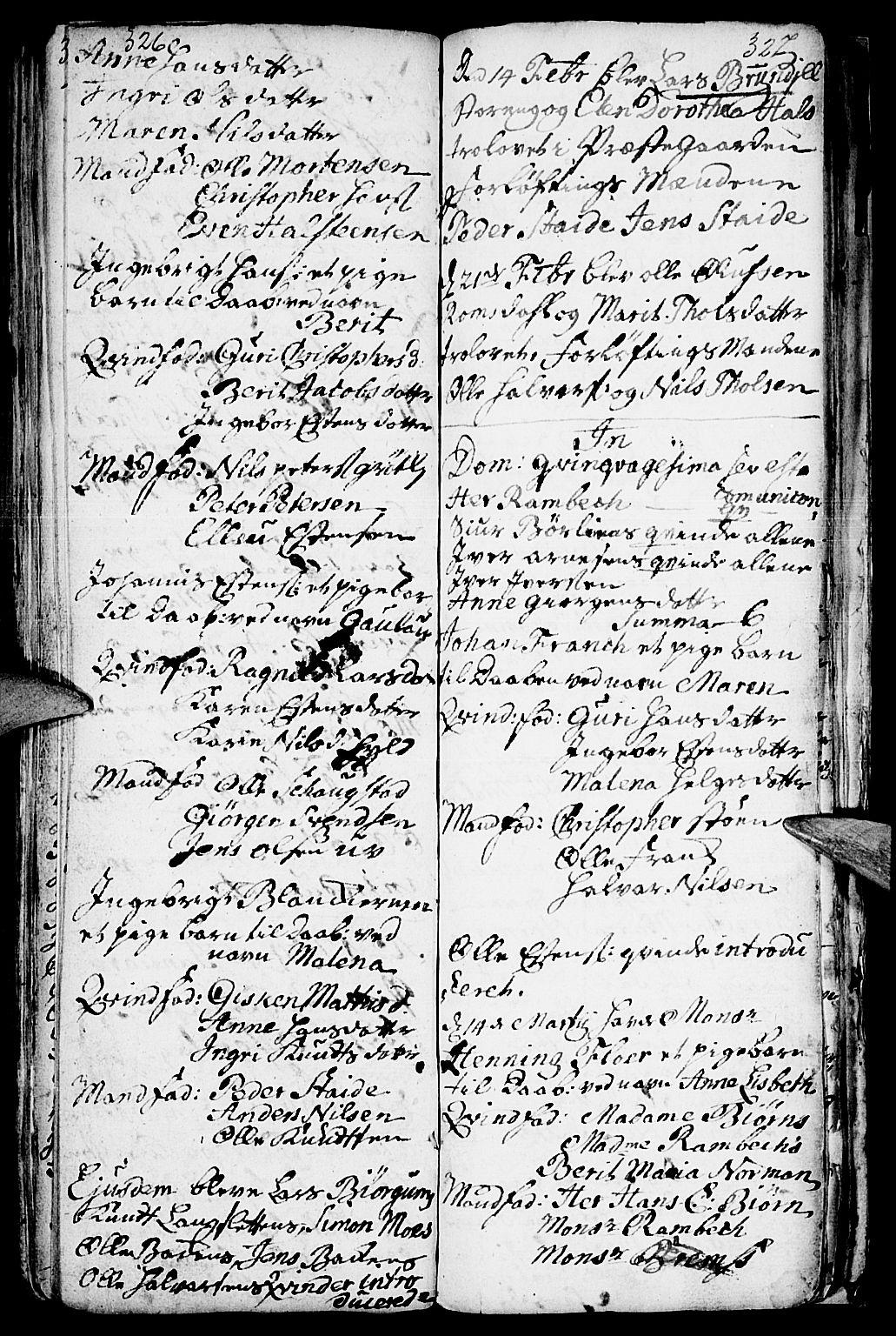 SAH, Kvikne prestekontor, Ministerialbok nr. 1, 1740-1756, s. 326-327