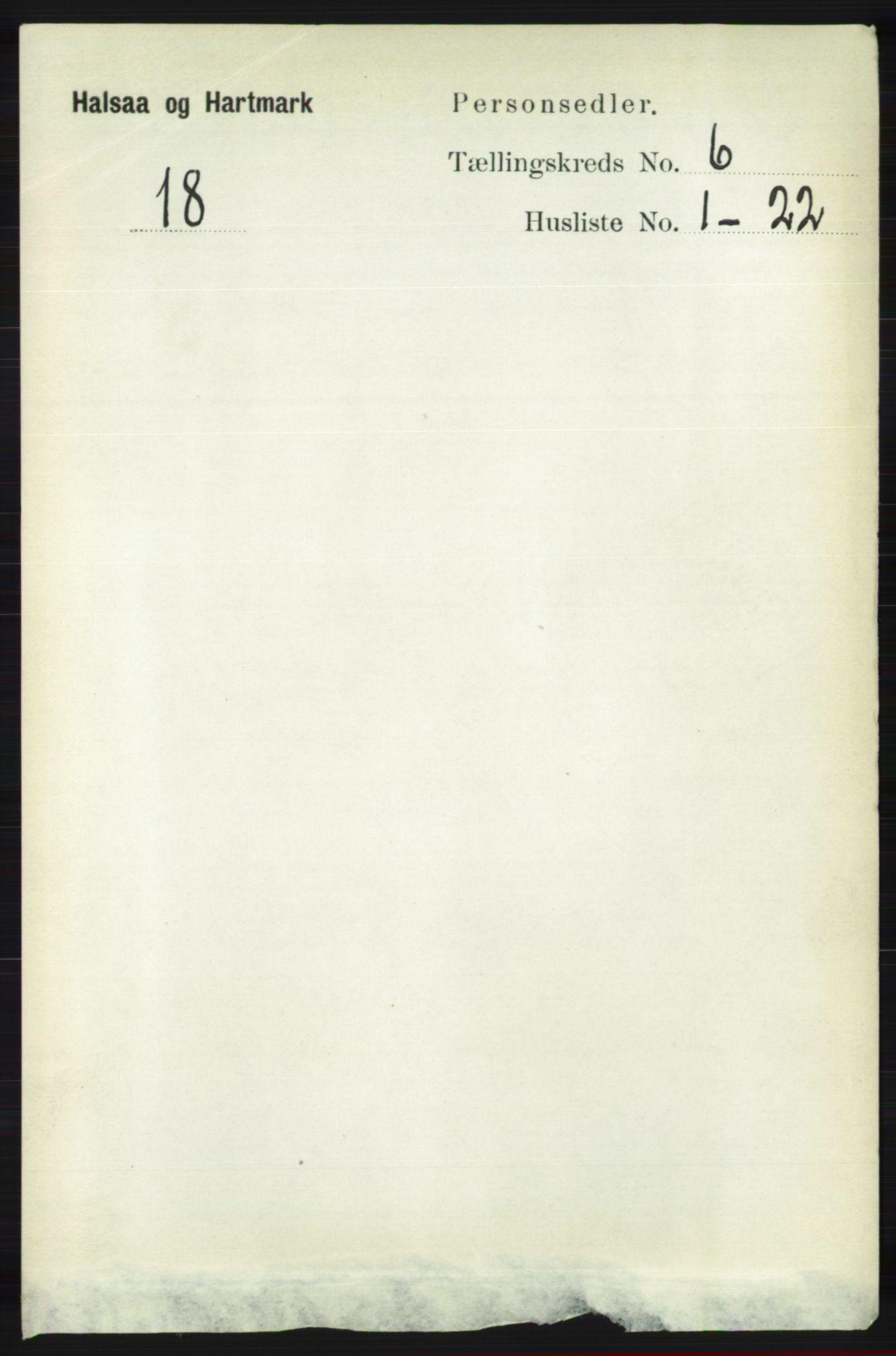 RA, Folketelling 1891 for 1019 Halse og Harkmark herred, 1891, s. 2370