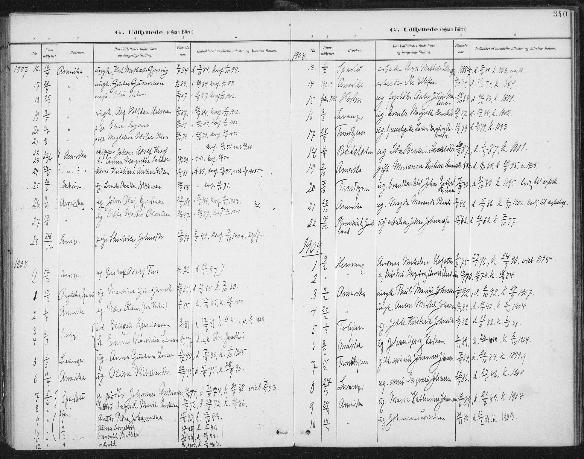 SAT, Ministerialprotokoller, klokkerbøker og fødselsregistre - Nord-Trøndelag, 723/L0246: Ministerialbok nr. 723A15, 1900-1917, s. 340