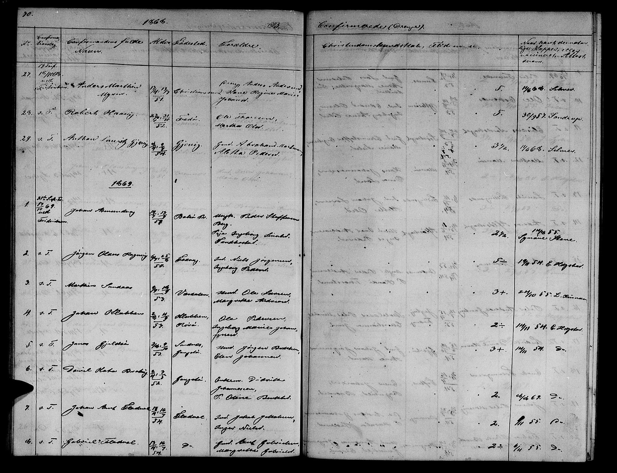 SAT, Ministerialprotokoller, klokkerbøker og fødselsregistre - Sør-Trøndelag, 634/L0539: Klokkerbok nr. 634C01, 1866-1873, s. 70