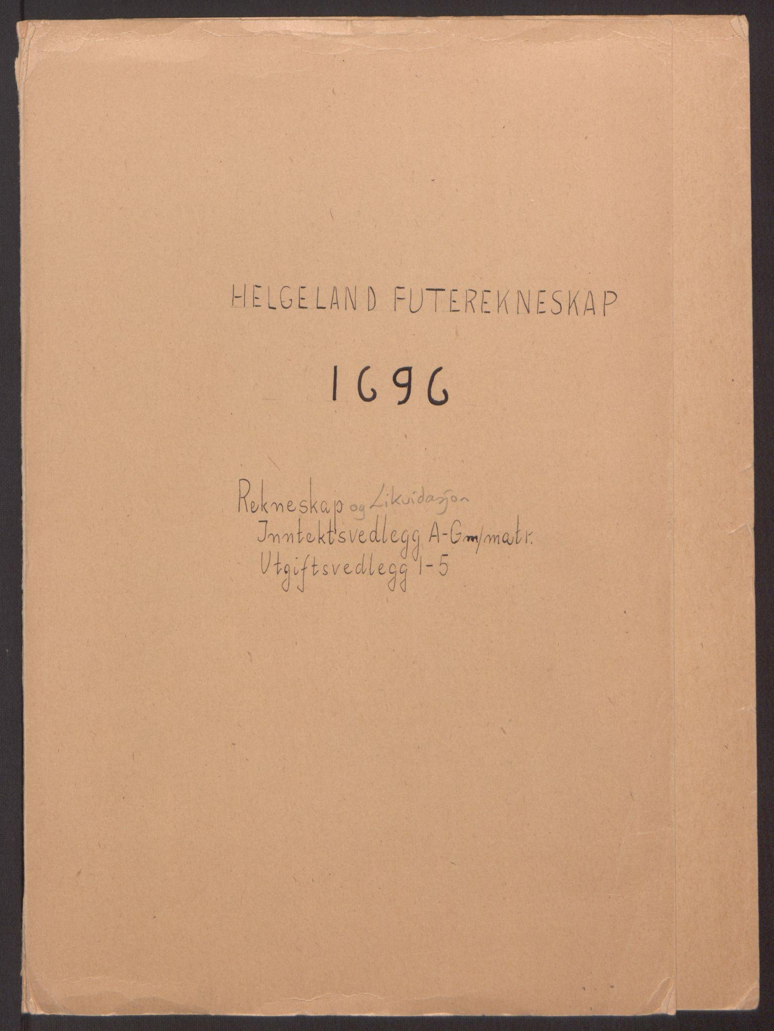 RA, Rentekammeret inntil 1814, Reviderte regnskaper, Fogderegnskap, R65/L4505: Fogderegnskap Helgeland, 1693-1696, s. 401