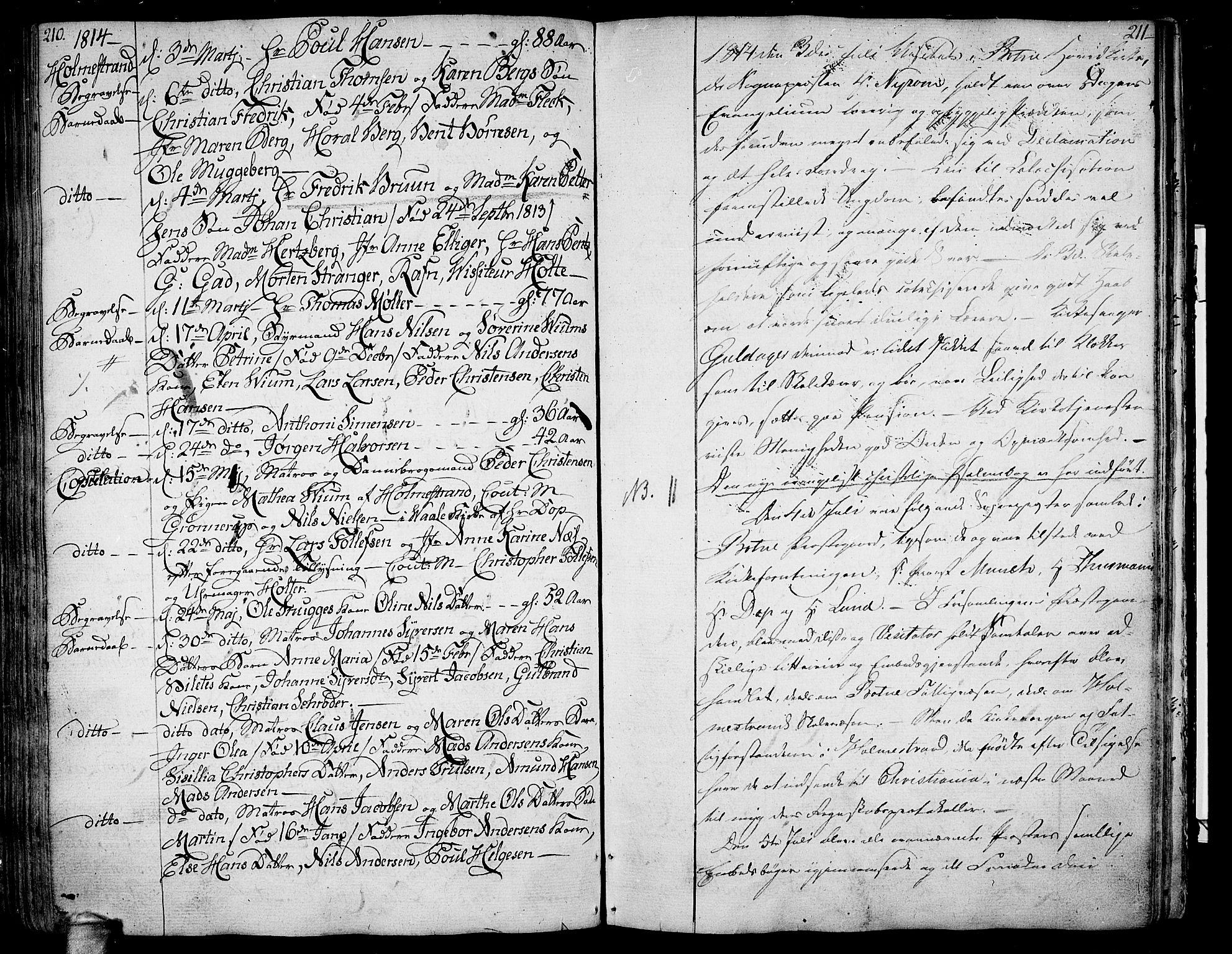 SAKO, Botne kirkebøker, F/Fa/L0003: Ministerialbok nr. I 3 /1, 1792-1844, s. 210-211