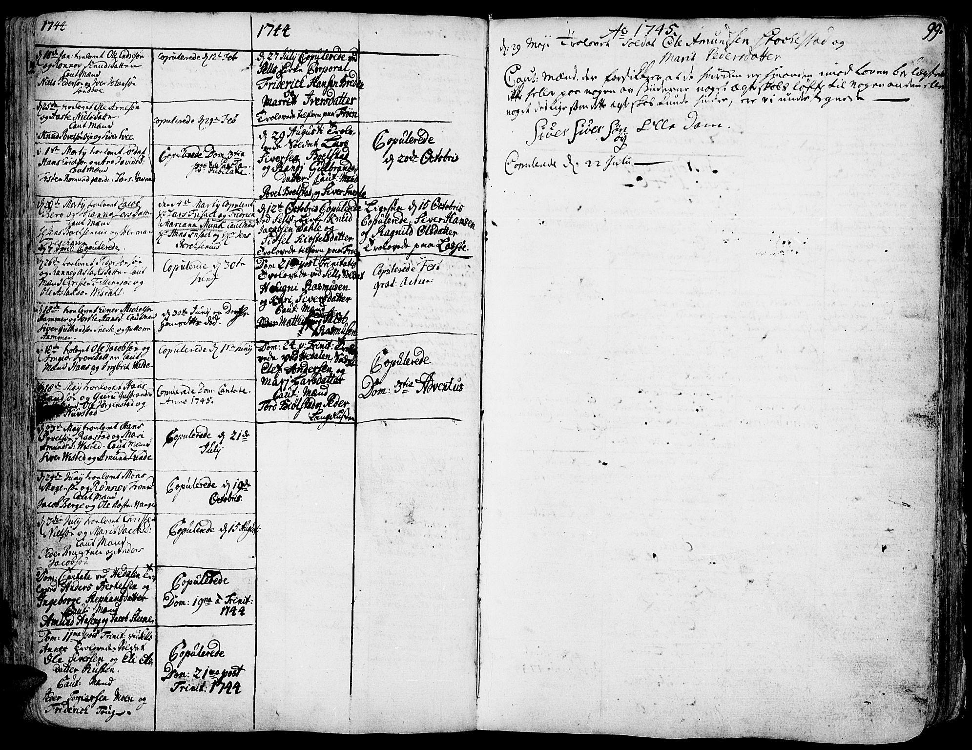 SAH, Vågå prestekontor, Ministerialbok nr. 1, 1739-1810, s. 99