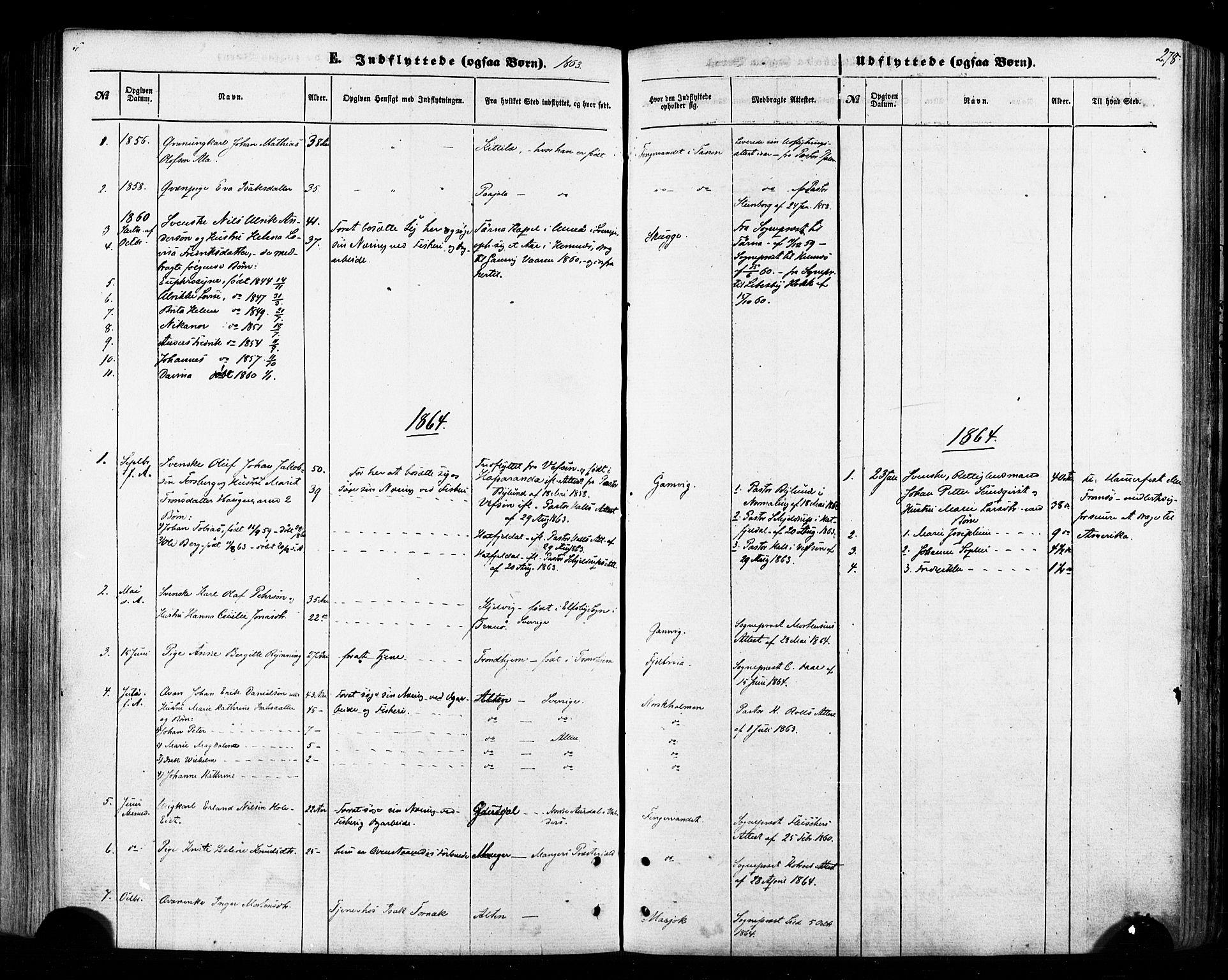 SATØ, Tana sokneprestkontor, H/Ha/L0002kirke: Ministerialbok nr. 2 /1, 1861-1877, s. 278