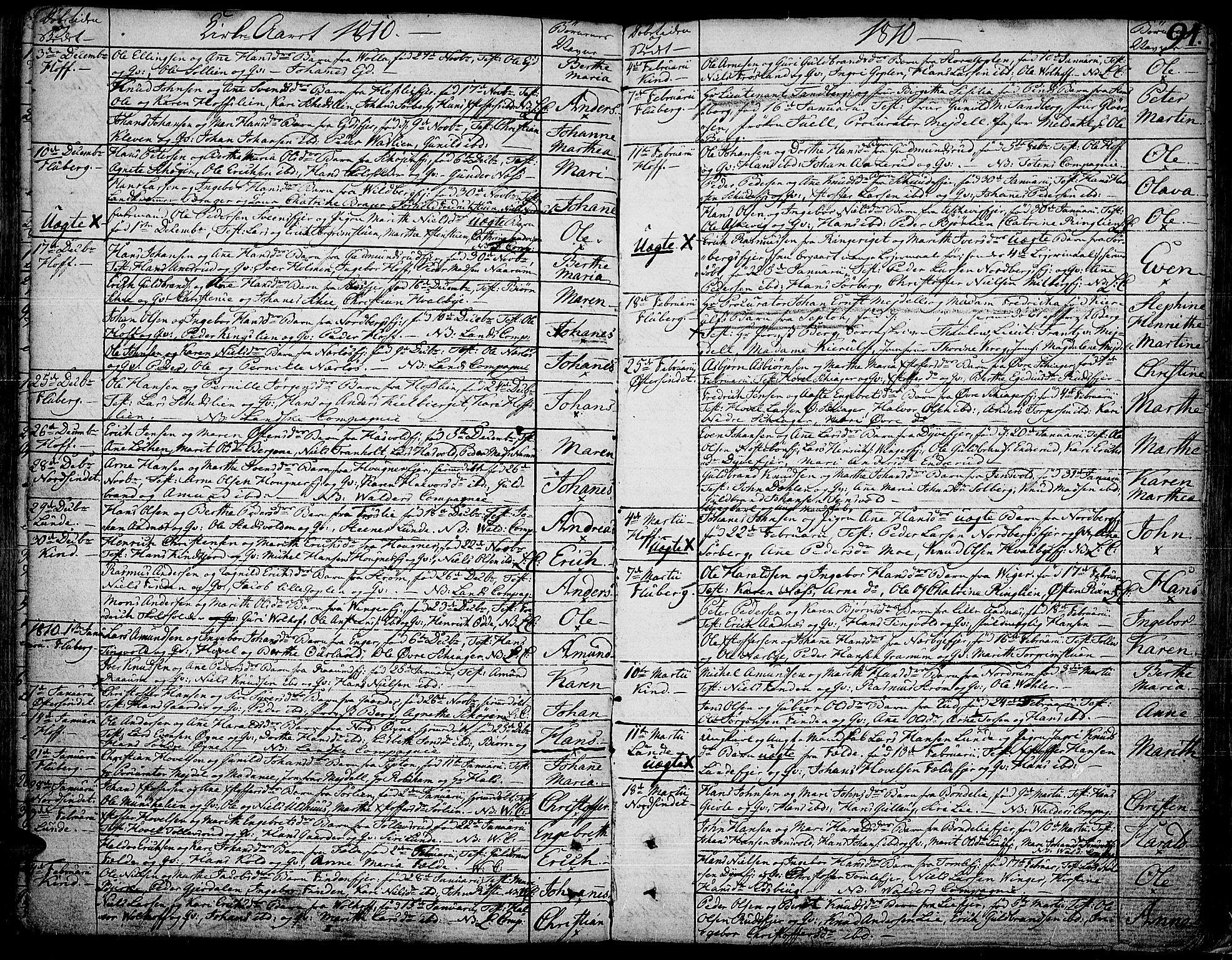 SAH, Land prestekontor, Ministerialbok nr. 6, 1784-1813, s. 94