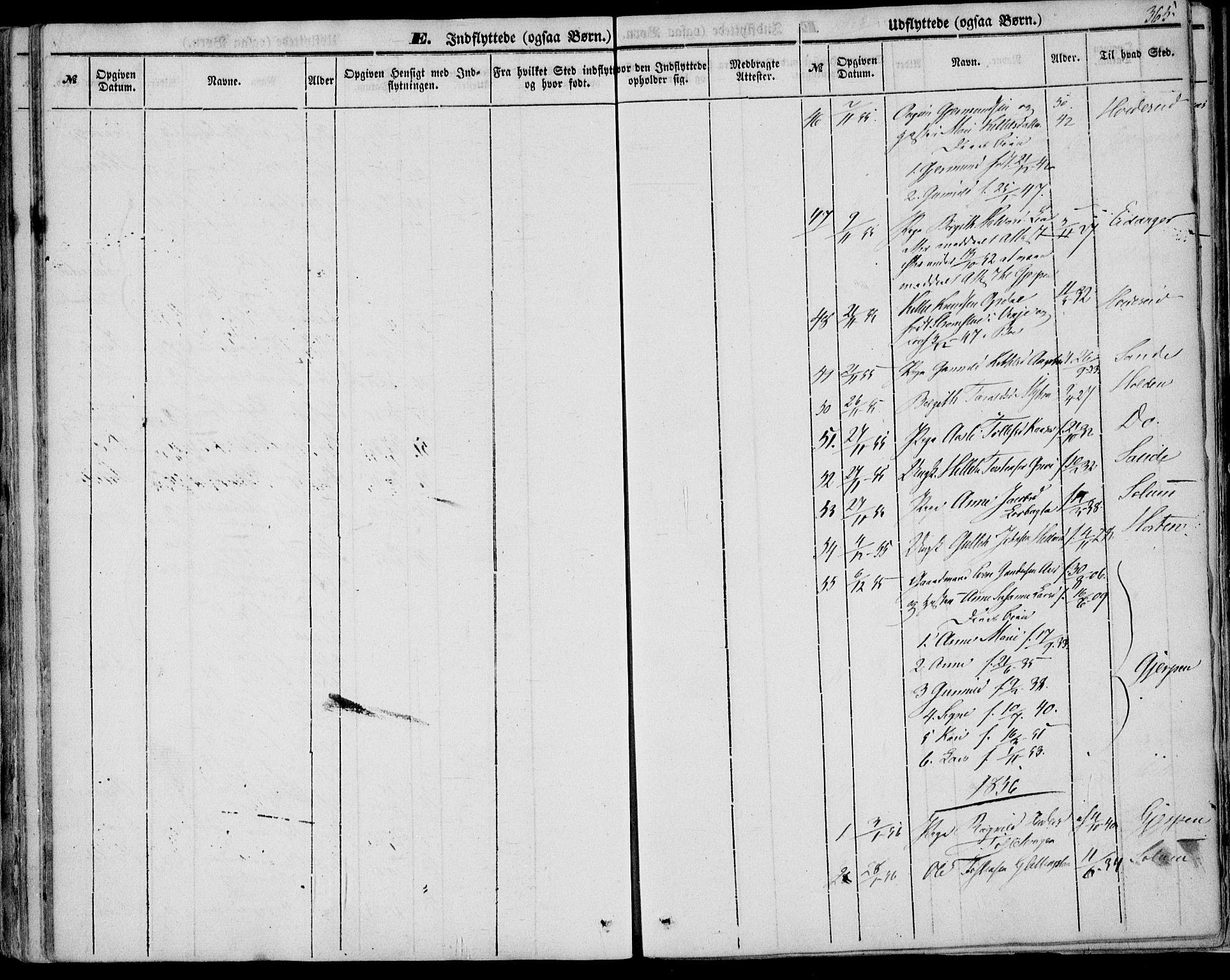 SAKO, Bø kirkebøker, F/Fa/L0008: Ministerialbok nr. 8, 1849-1861, s. 365