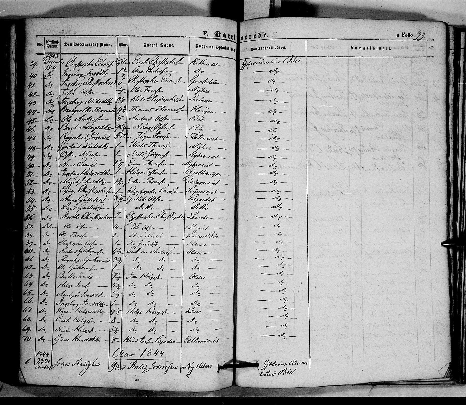 SAH, Vang prestekontor, Valdres, Ministerialbok nr. 5, 1831-1845, s. 199