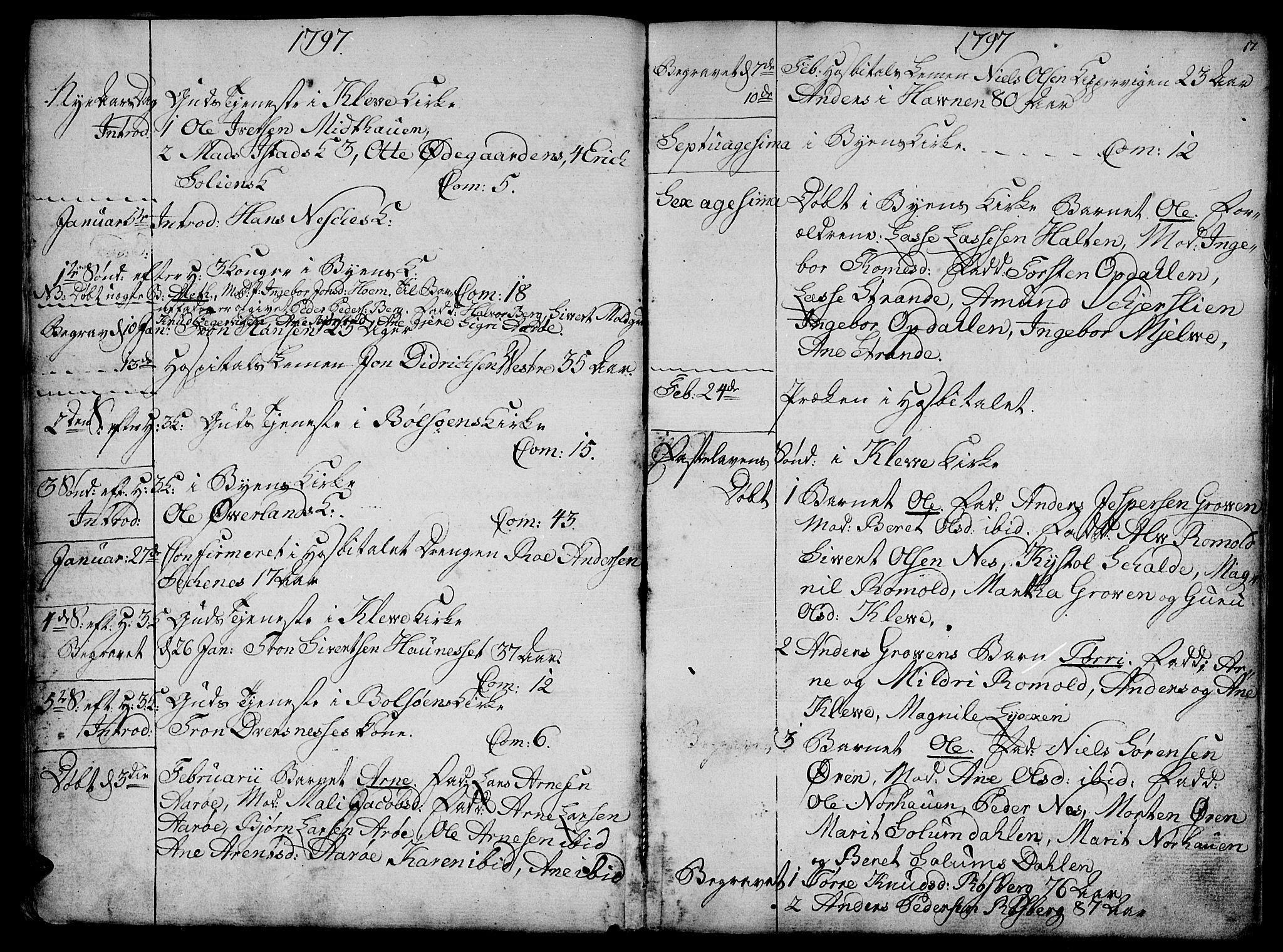 SAT, Ministerialprotokoller, klokkerbøker og fødselsregistre - Møre og Romsdal, 555/L0649: Ministerialbok nr. 555A02 /1, 1795-1821, s. 17