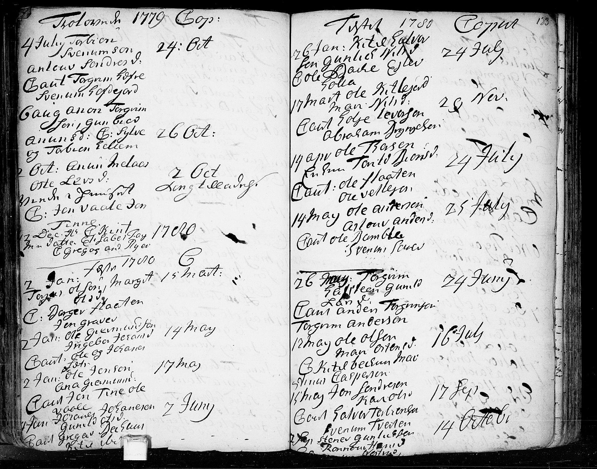 SAKO, Heddal kirkebøker, F/Fa/L0003: Ministerialbok nr. I 3, 1723-1783, s. 133