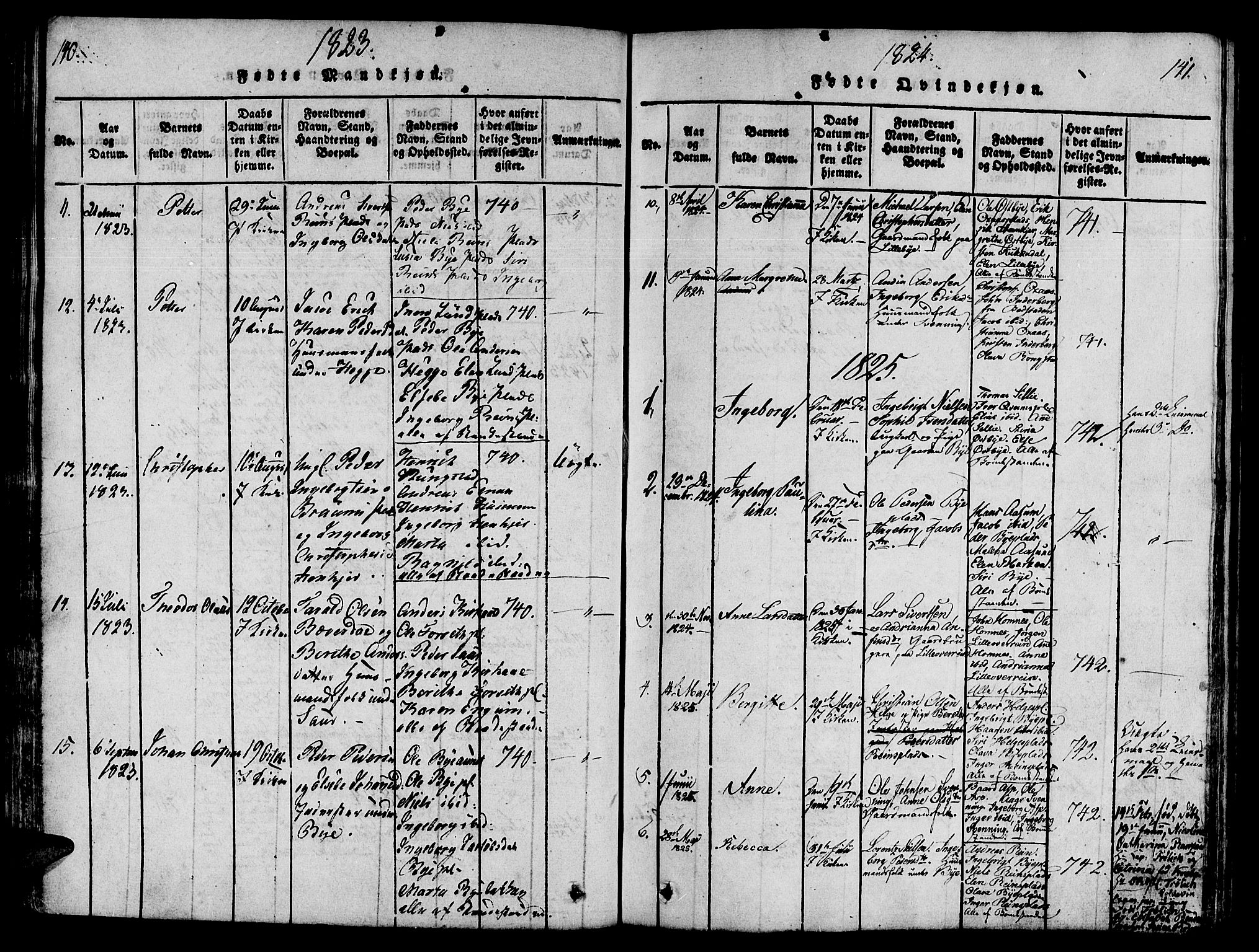 SAT, Ministerialprotokoller, klokkerbøker og fødselsregistre - Nord-Trøndelag, 746/L0441: Ministerialbok nr. 736A03 /3, 1816-1827, s. 140-141