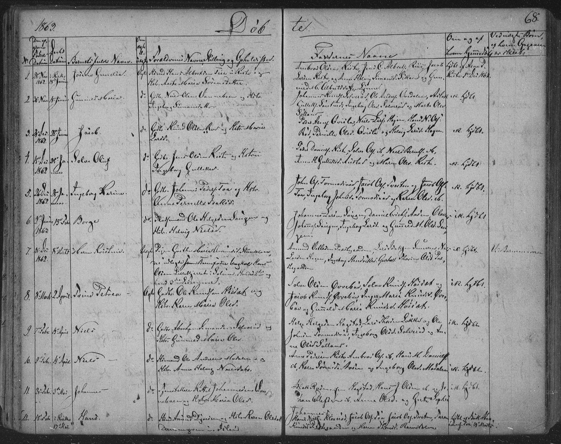 SAKO, Siljan kirkebøker, F/Fa/L0001: Ministerialbok nr. 1, 1831-1870, s. 68