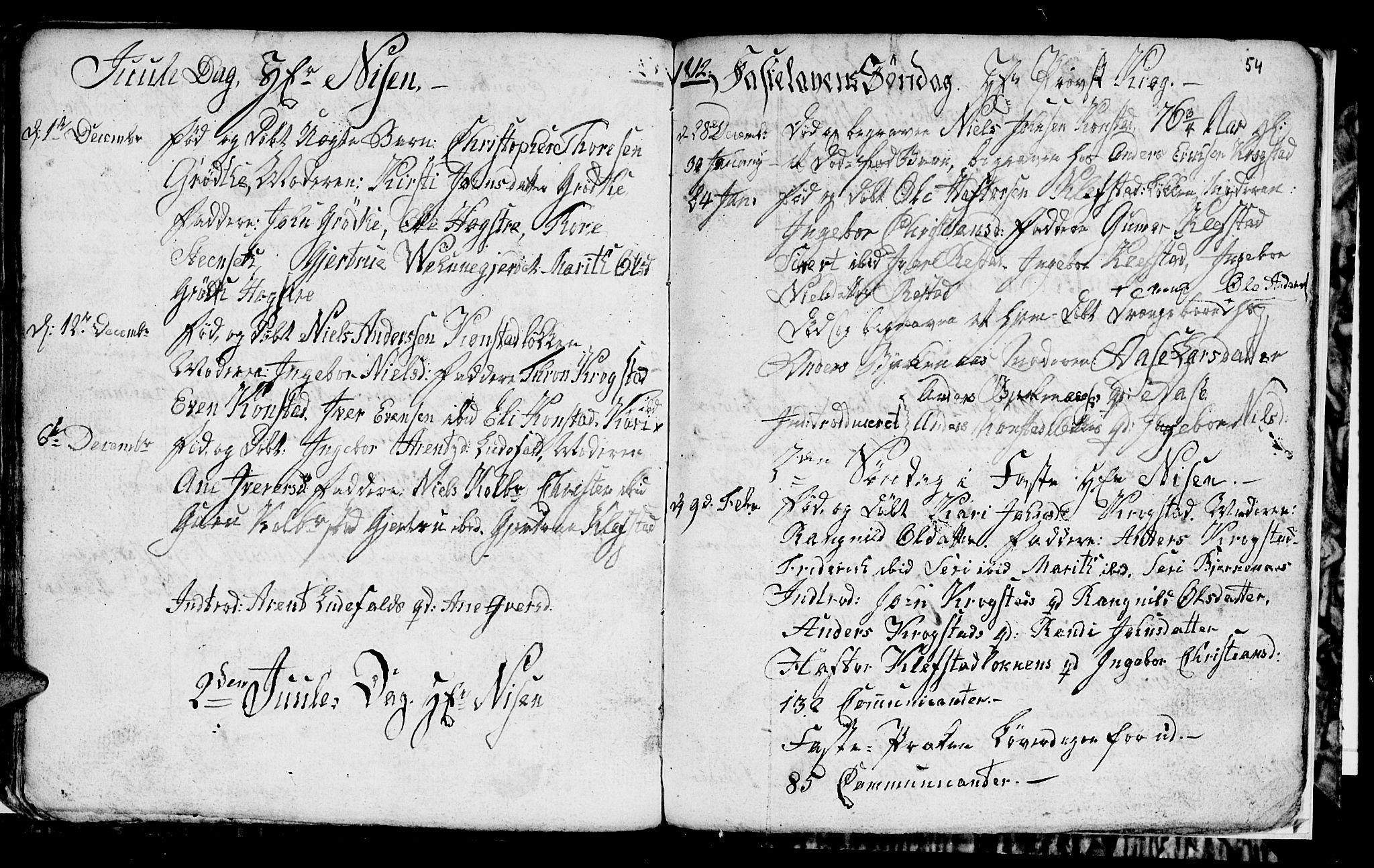 SAT, Ministerialprotokoller, klokkerbøker og fødselsregistre - Sør-Trøndelag, 694/L1129: Klokkerbok nr. 694C01, 1793-1815, s. 54b