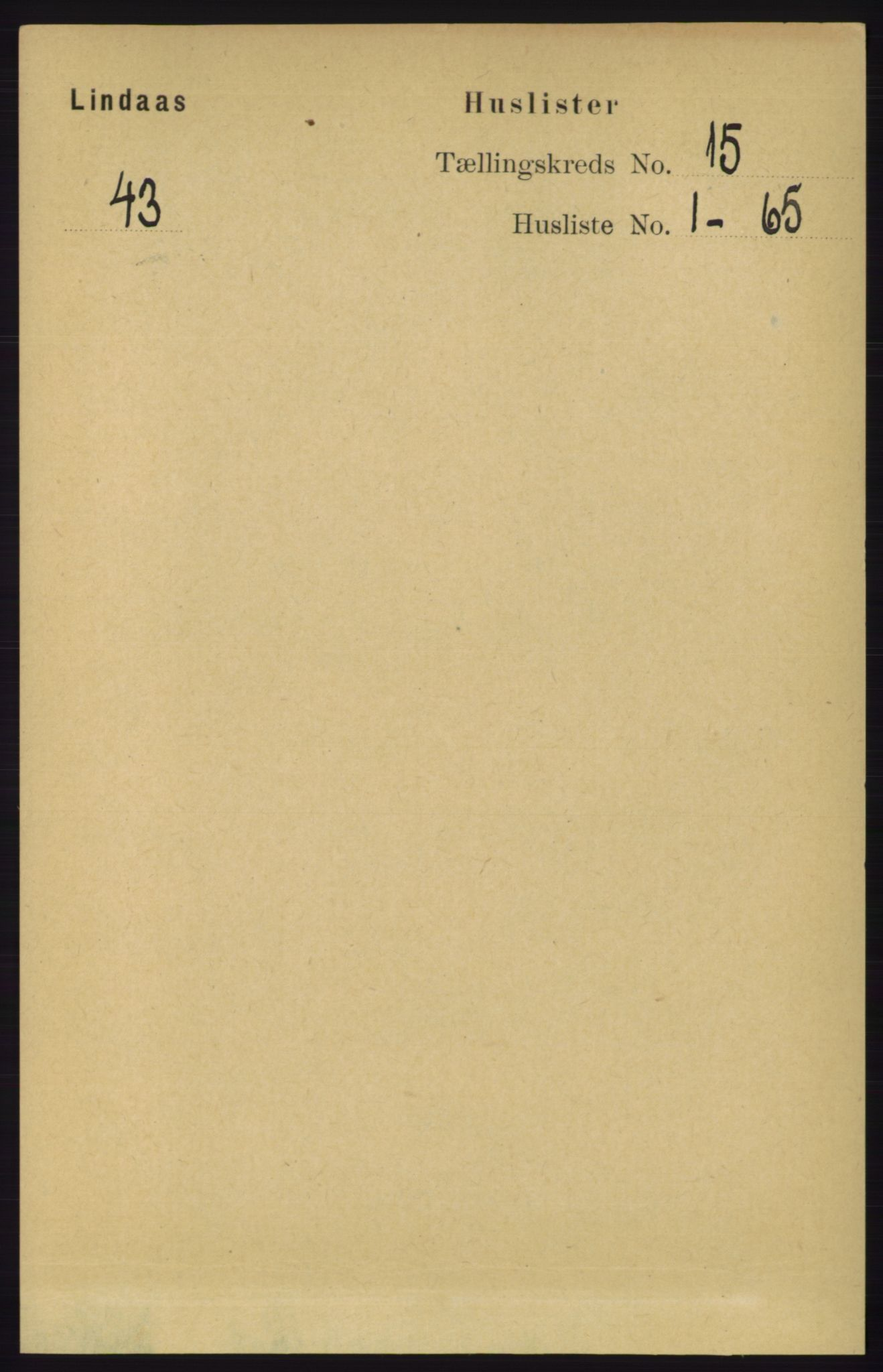 RA, Folketelling 1891 for 1263 Lindås herred, 1891, s. 5208