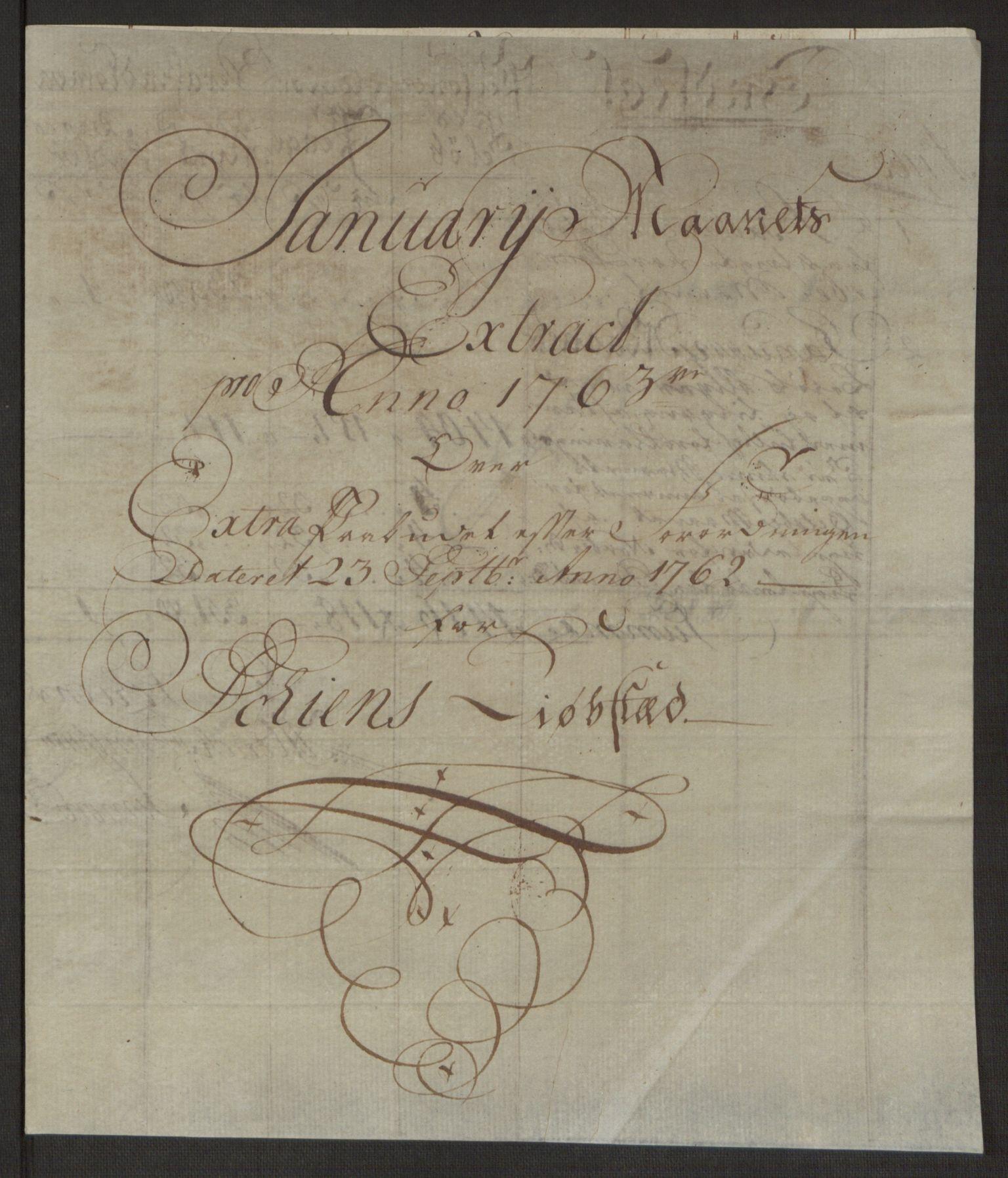 RA, Rentekammeret inntil 1814, Reviderte regnskaper, Byregnskaper, R/Rj/L0198: [J4] Kontribusjonsregnskap, 1762-1768, s. 110