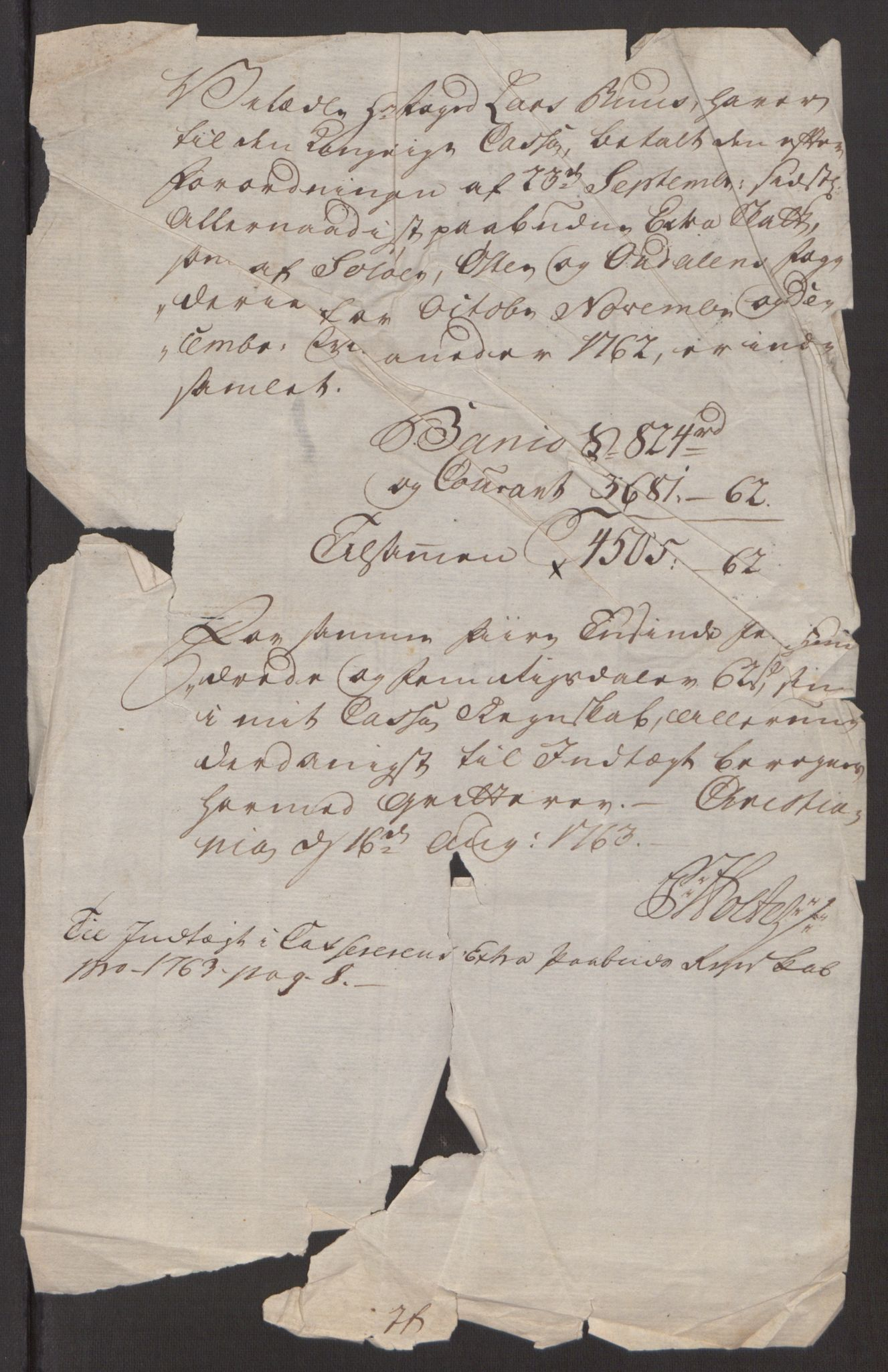 RA, Rentekammeret inntil 1814, Reviderte regnskaper, Fogderegnskap, R15/L1014: Ekstraskatten Østerdal, 1762-1764, s. 488