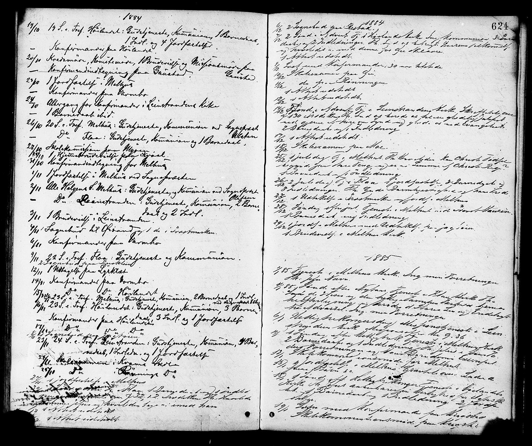 SAT, Ministerialprotokoller, klokkerbøker og fødselsregistre - Sør-Trøndelag, 691/L1079: Ministerialbok nr. 691A11, 1873-1886, s. 624