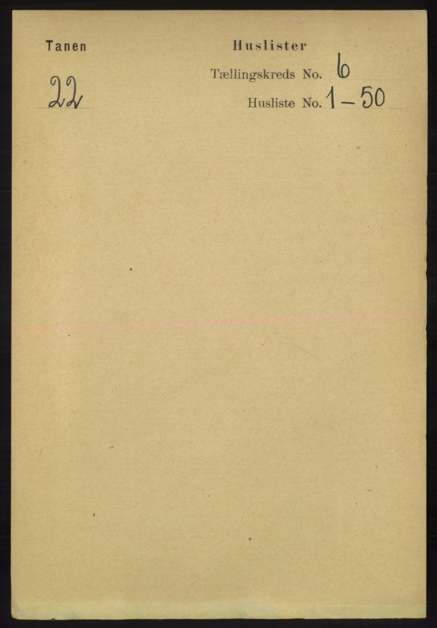 RA, Folketelling 1891 for 2025 Tana herred, 1891, s. 2747