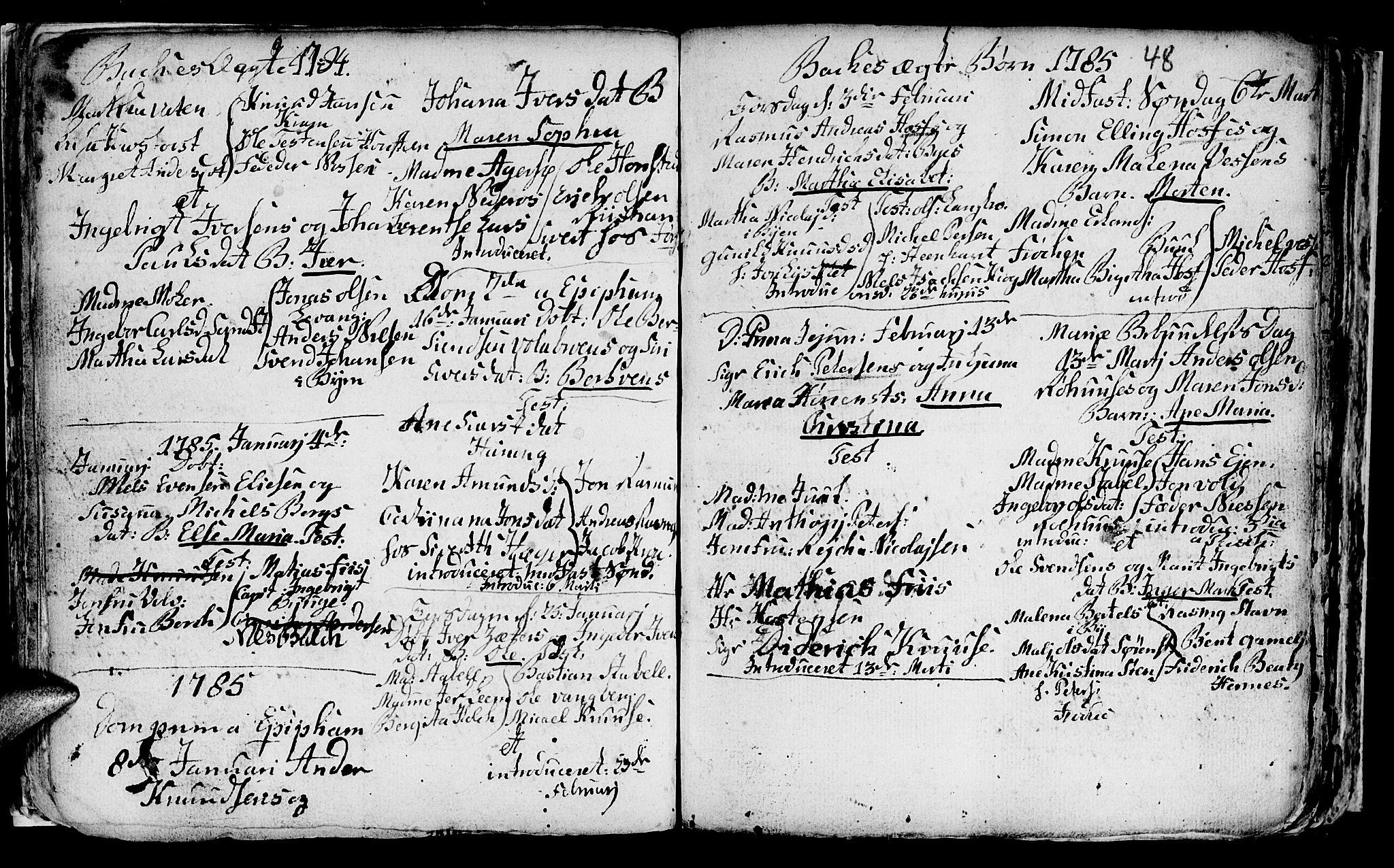 SAT, Ministerialprotokoller, klokkerbøker og fødselsregistre - Sør-Trøndelag, 604/L0218: Klokkerbok nr. 604C01, 1754-1819, s. 48