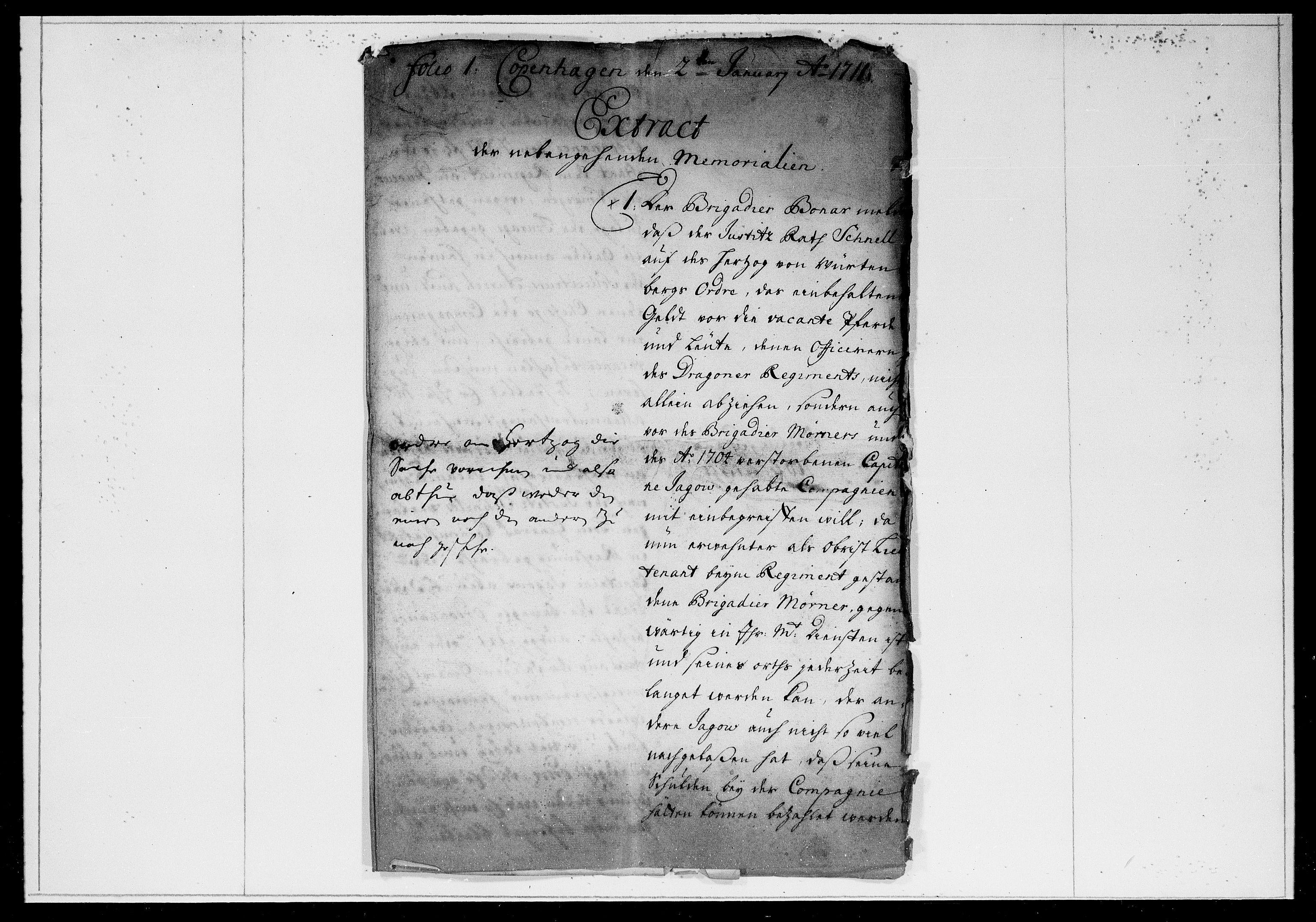 DRA, Krigskollegiet, Krigskancelliet, -/0979-0985: Refererede sager, 1711, s. 2