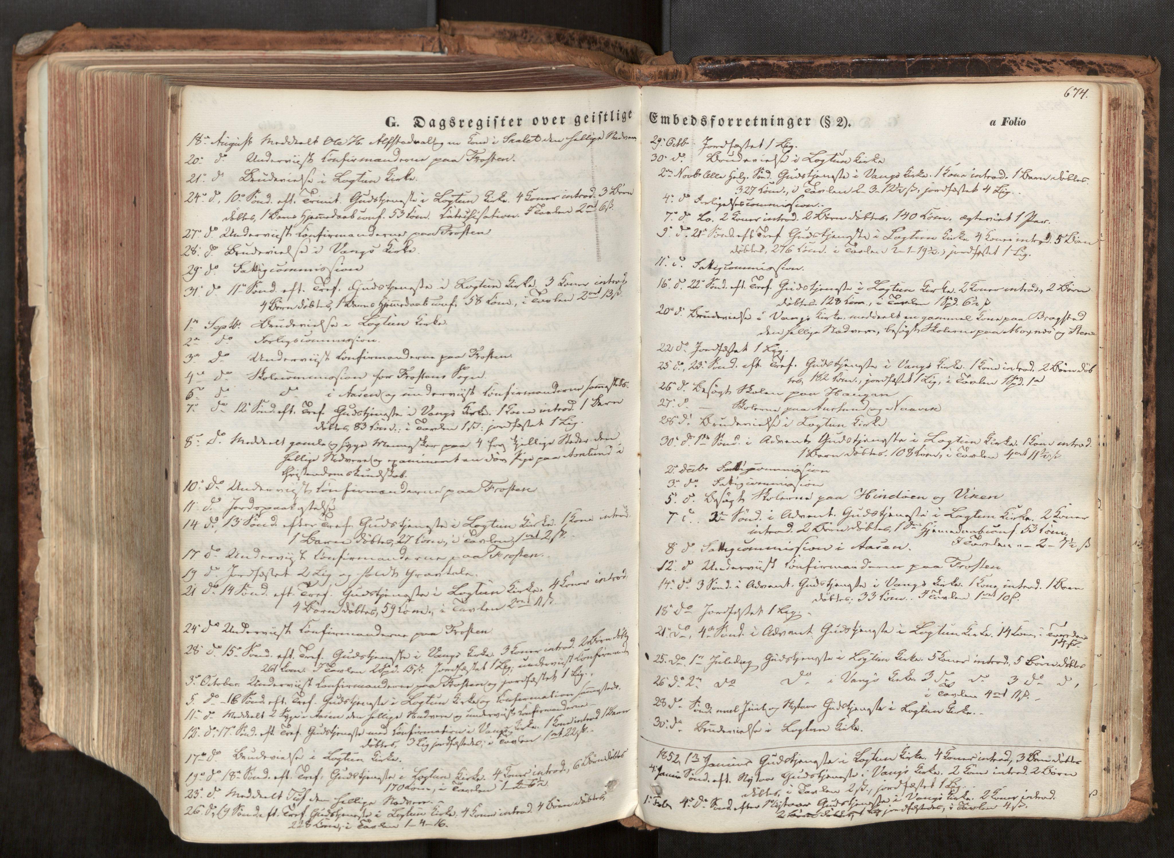 SAT, Ministerialprotokoller, klokkerbøker og fødselsregistre - Nord-Trøndelag, 713/L0116: Ministerialbok nr. 713A07, 1850-1877, s. 674