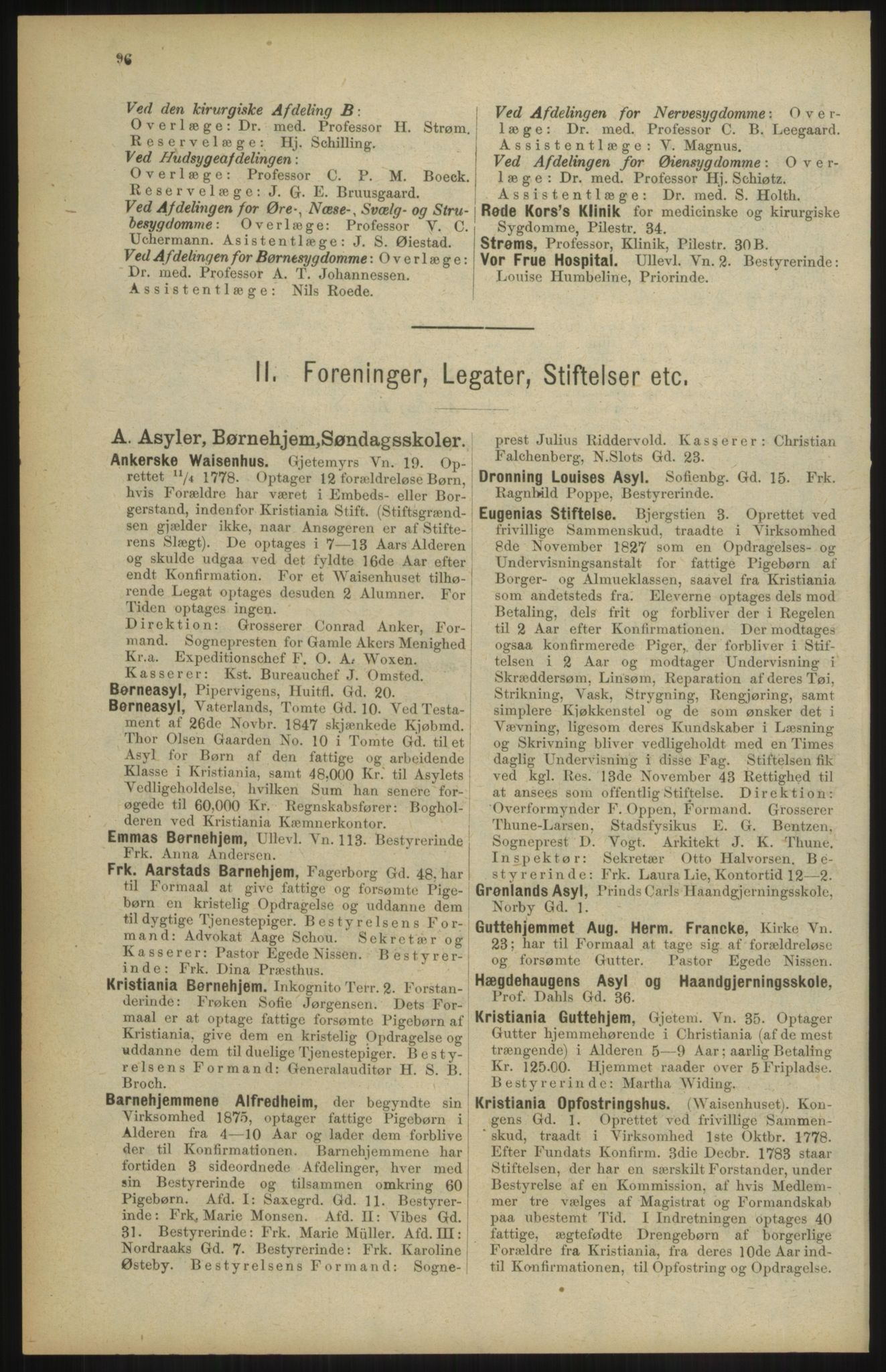 RA, Kristiania adressebok (publikasjon)*, 1904, s. 96