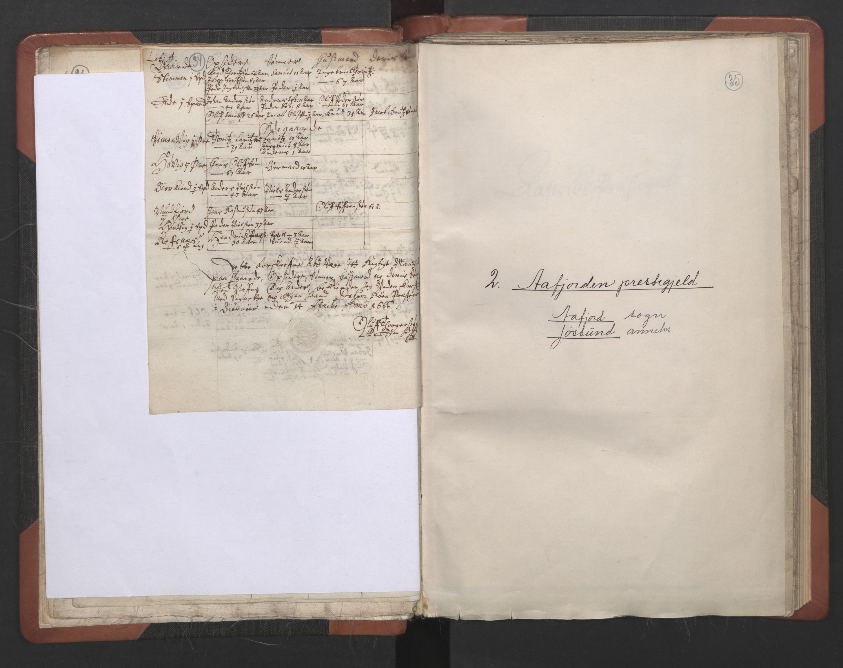 RA, Sogneprestenes manntall 1664-1666, nr. 30: Fosen prosti, 1664-1666, s. 34-35