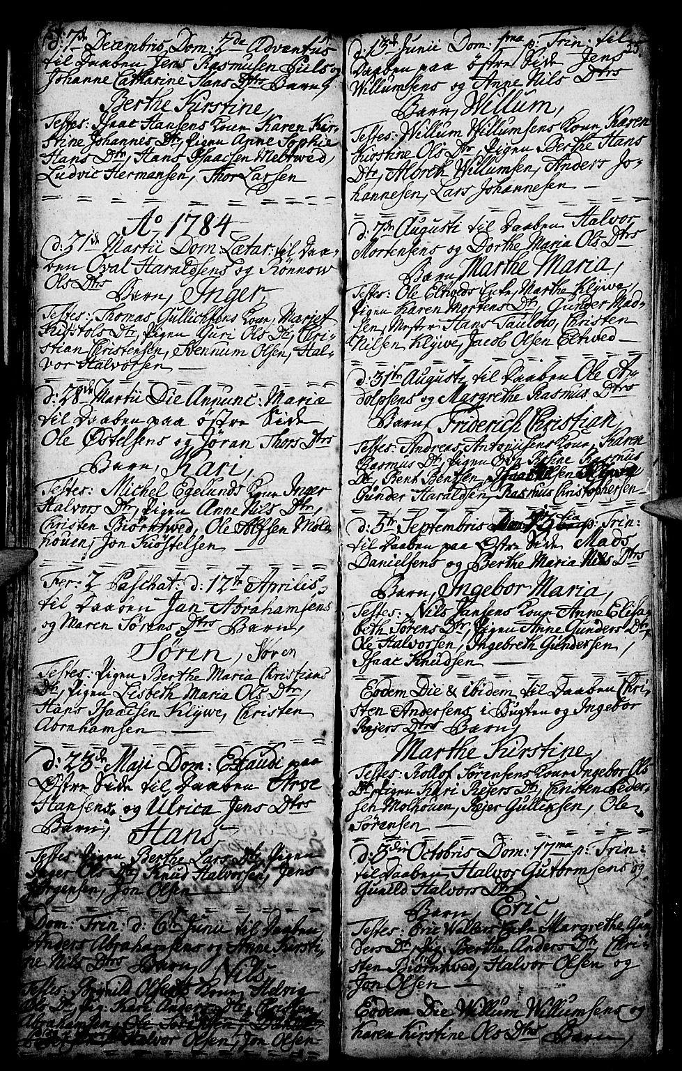 SAKO, Porsgrunn kirkebøker , G/Ga/L0001: Klokkerbok nr. I 1, 1766-1790, s. 54-55