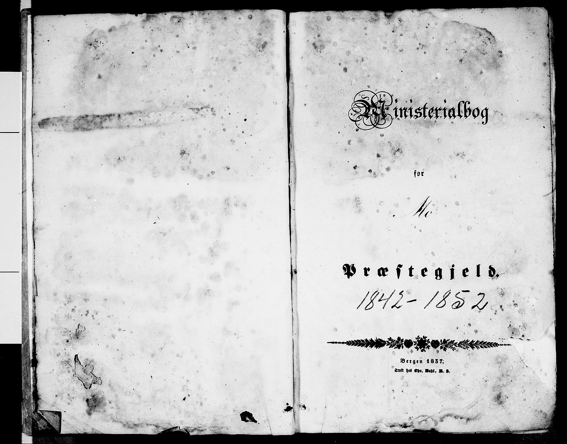 SAT, Ministerialprotokoller, klokkerbøker og fødselsregistre - Nordland, 827/L0413: Klokkerbok nr. 827C02, 1842-1852