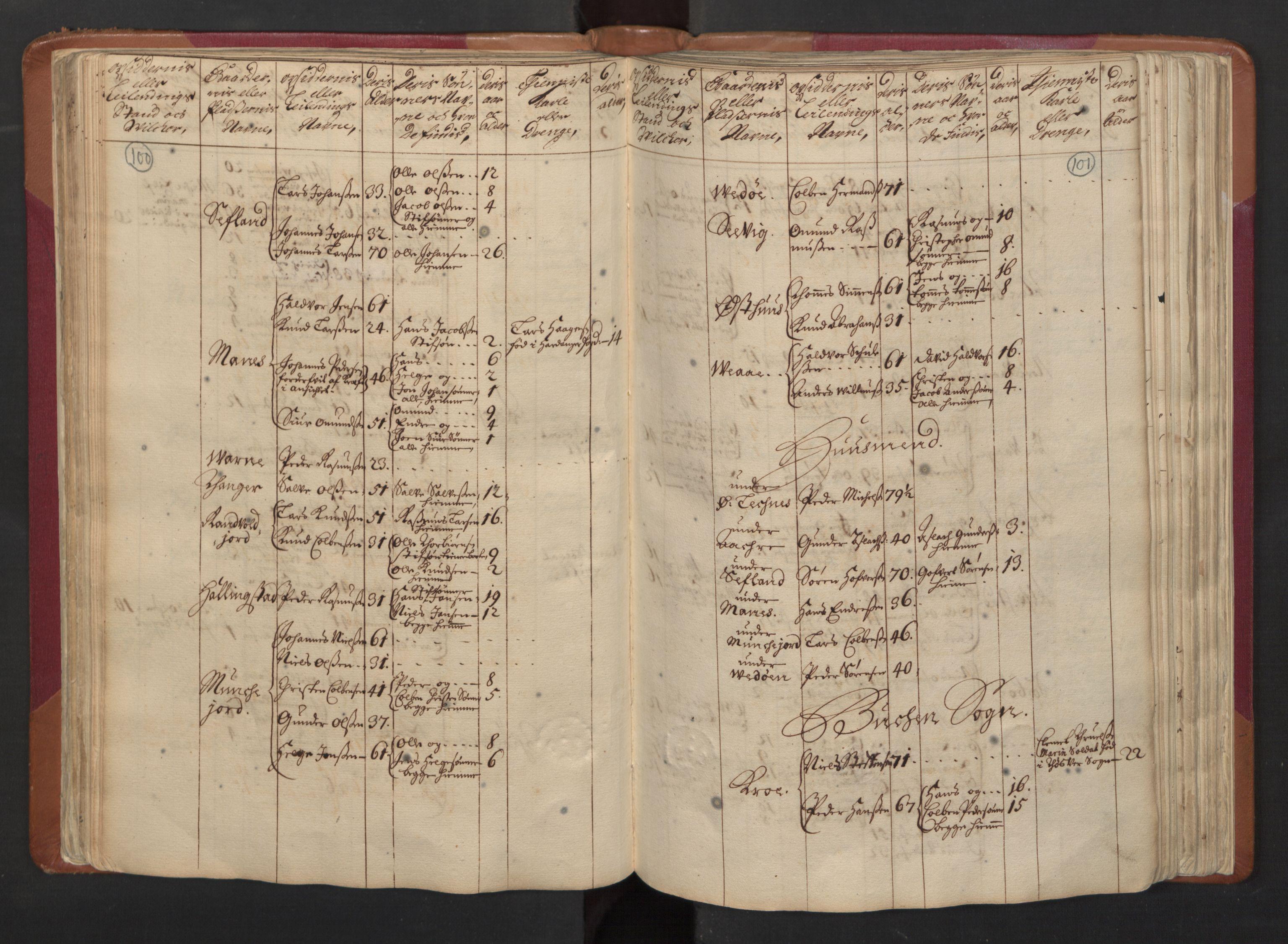 RA, Manntallet 1701, nr. 5: Ryfylke fogderi, 1701, s. 100-101