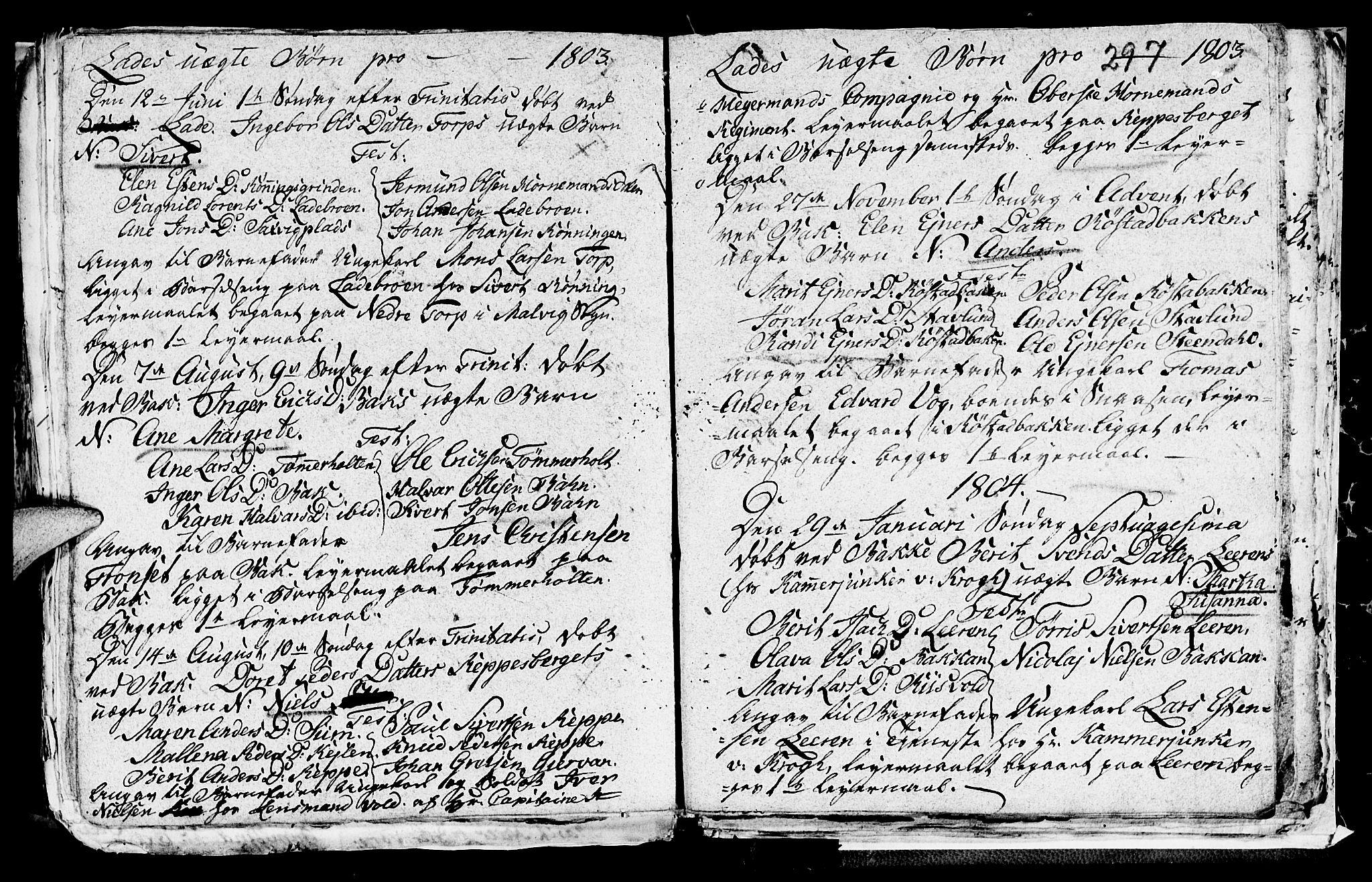 SAT, Ministerialprotokoller, klokkerbøker og fødselsregistre - Sør-Trøndelag, 606/L0305: Klokkerbok nr. 606C01, 1757-1819, s. 297