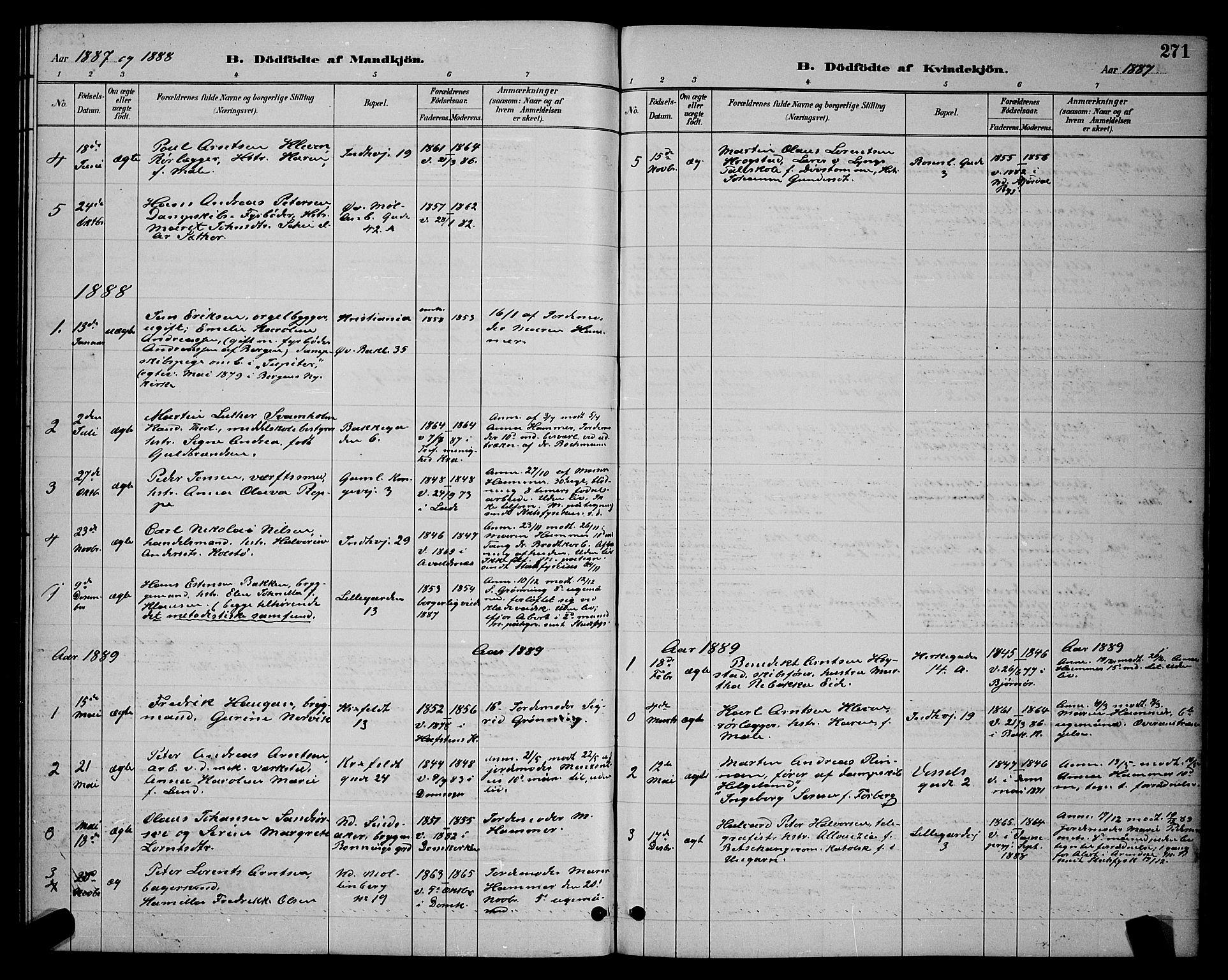 SAT, Ministerialprotokoller, klokkerbøker og fødselsregistre - Sør-Trøndelag, 604/L0222: Klokkerbok nr. 604C05, 1886-1895, s. 271