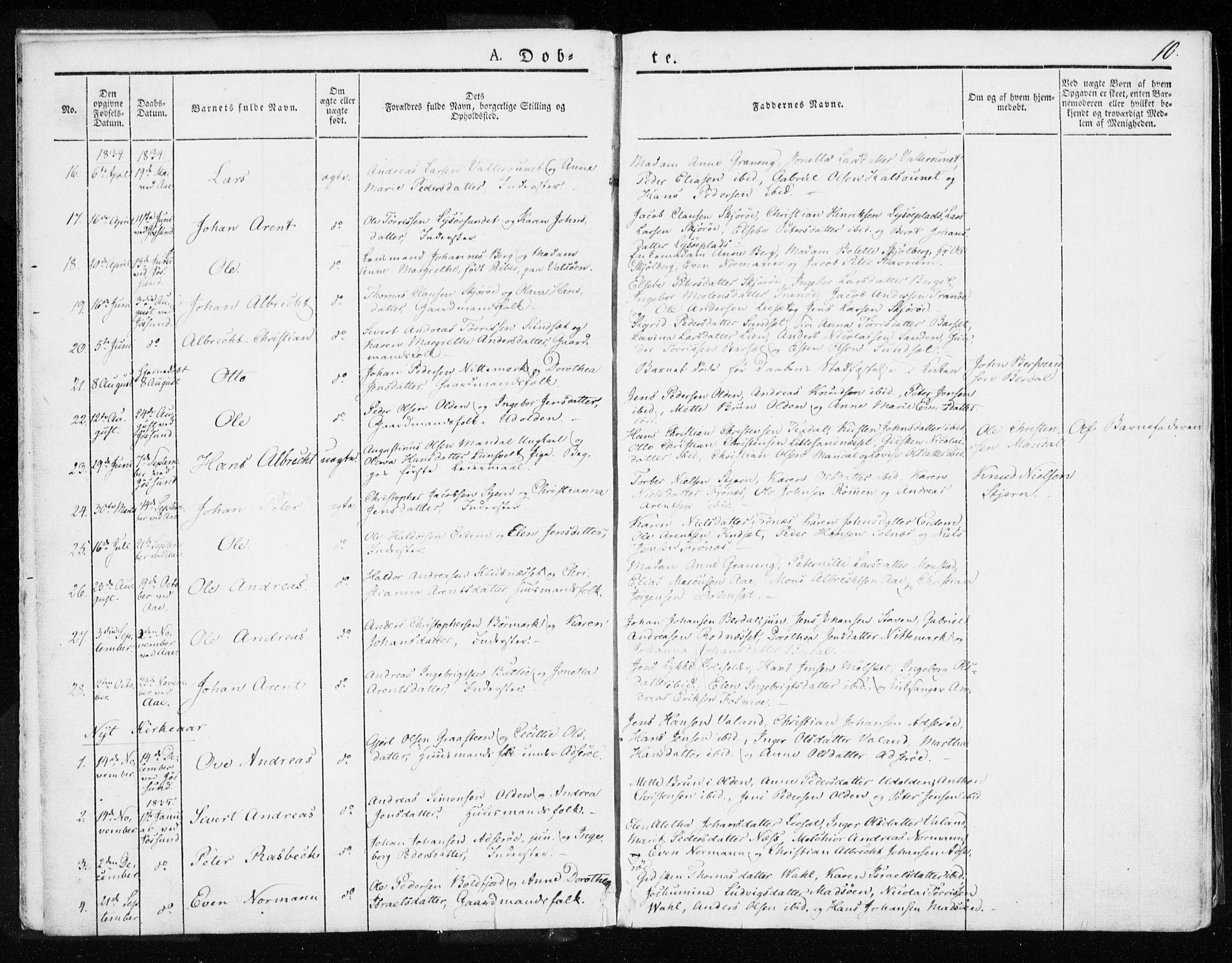 SAT, Ministerialprotokoller, klokkerbøker og fødselsregistre - Sør-Trøndelag, 655/L0676: Ministerialbok nr. 655A05, 1830-1847, s. 10