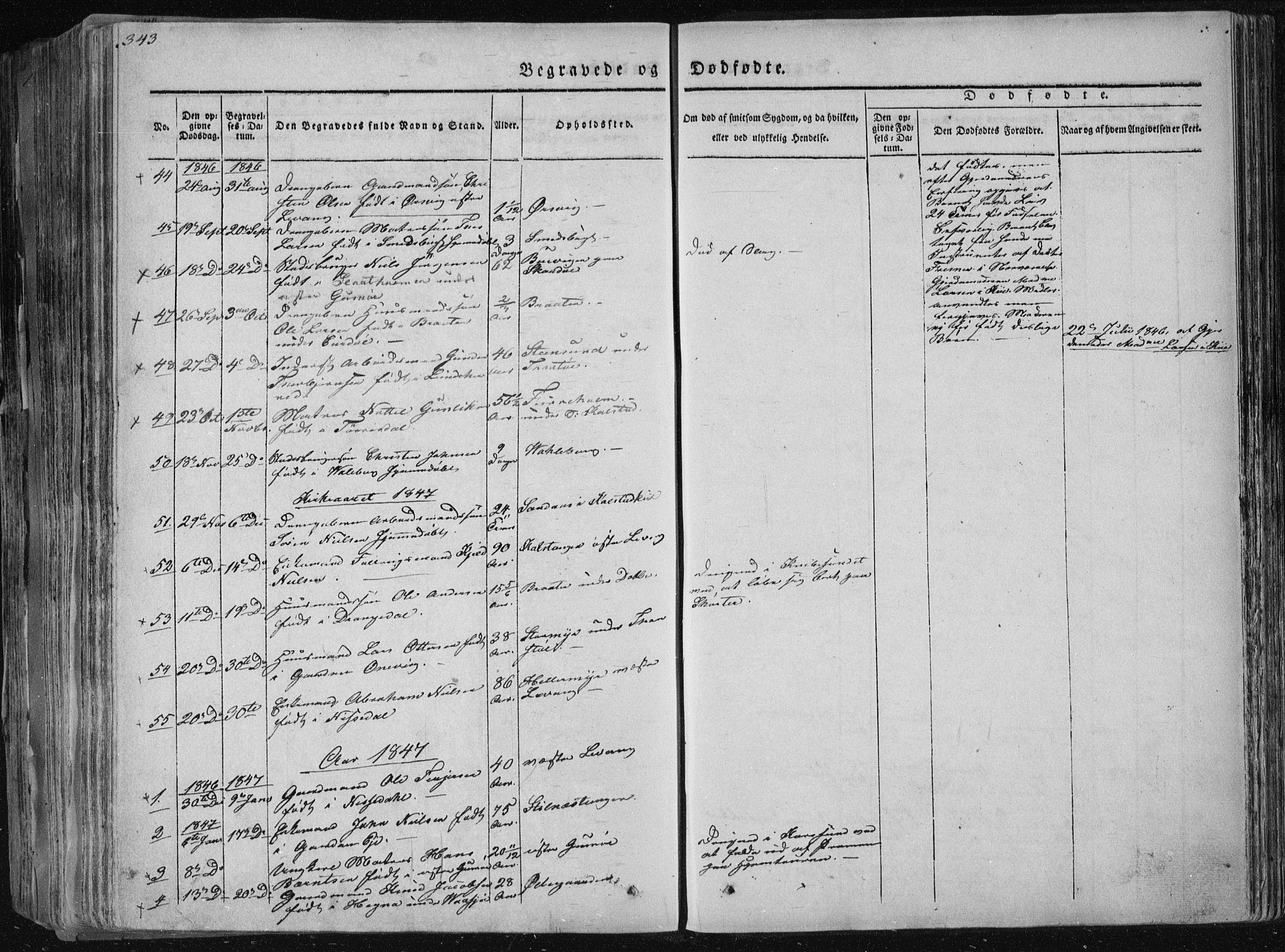 SAKO, Sannidal kirkebøker, F/Fa/L0006: Ministerialbok nr. 6, 1831-1847, s. 343