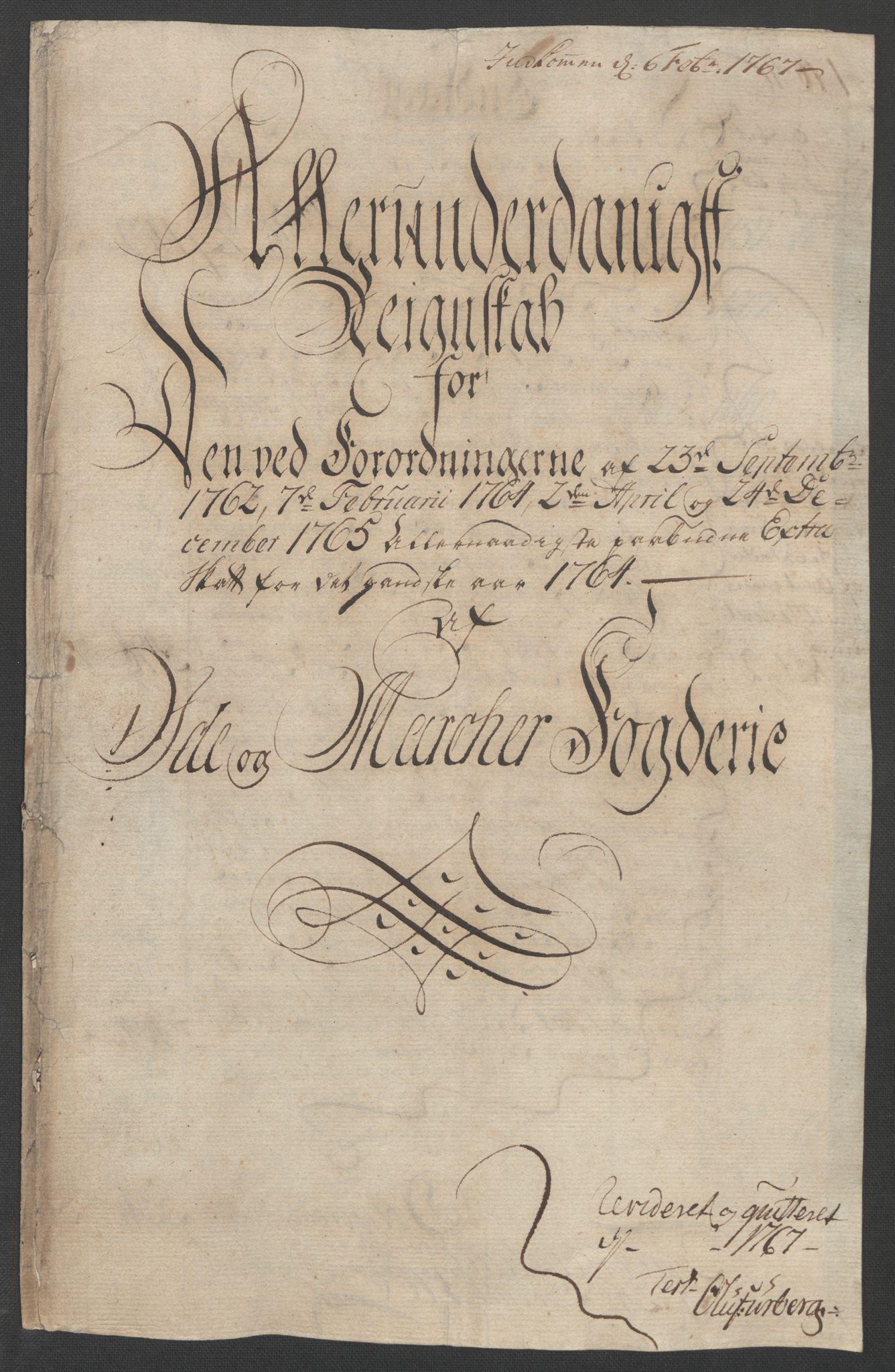 RA, Rentekammeret inntil 1814, Reviderte regnskaper, Fogderegnskap, R01/L0097: Ekstraskatten Idd og Marker, 1756-1767, s. 203