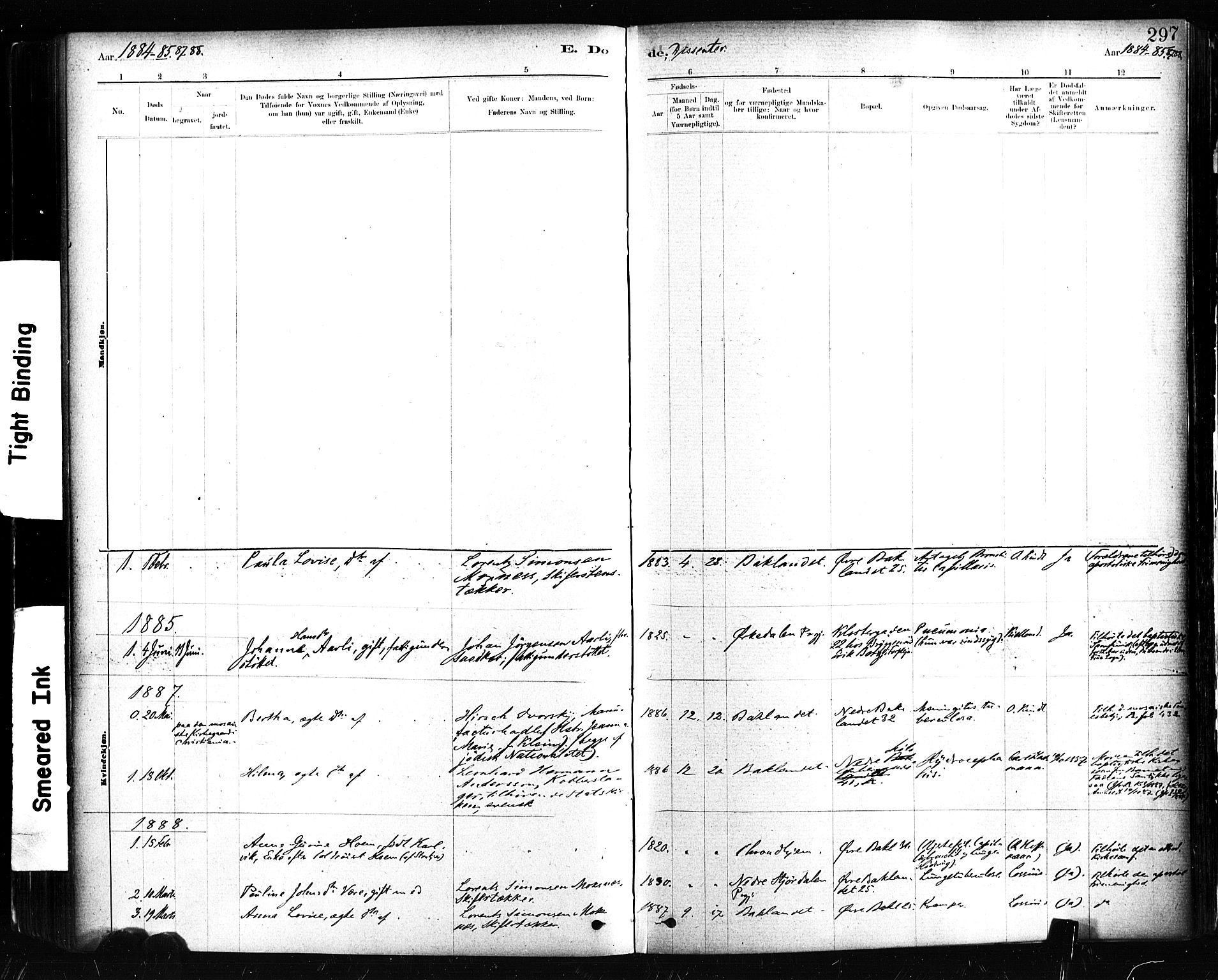 SAT, Ministerialprotokoller, klokkerbøker og fødselsregistre - Sør-Trøndelag, 604/L0189: Ministerialbok nr. 604A10, 1878-1892, s. 297