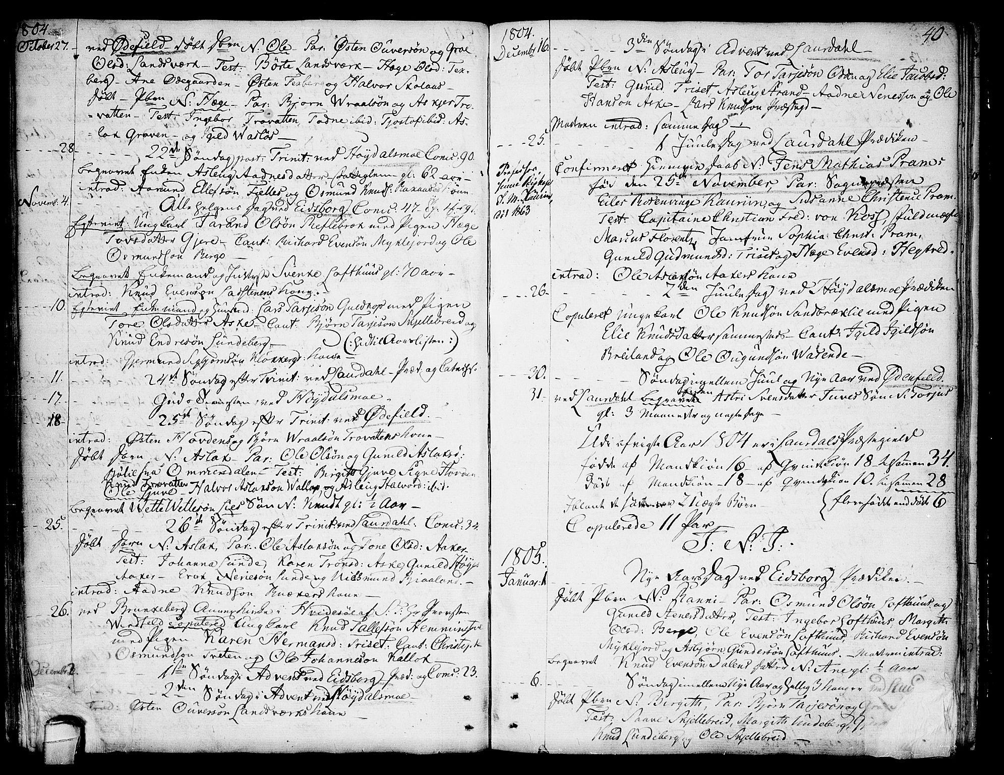 SAKO, Lårdal kirkebøker, F/Fa/L0004: Ministerialbok nr. I 4, 1790-1814, s. 40