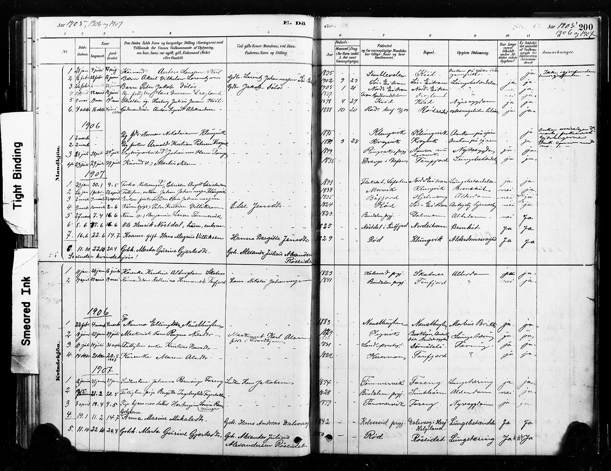 SAT, Ministerialprotokoller, klokkerbøker og fødselsregistre - Nord-Trøndelag, 789/L0705: Ministerialbok nr. 789A01, 1878-1910, s. 200