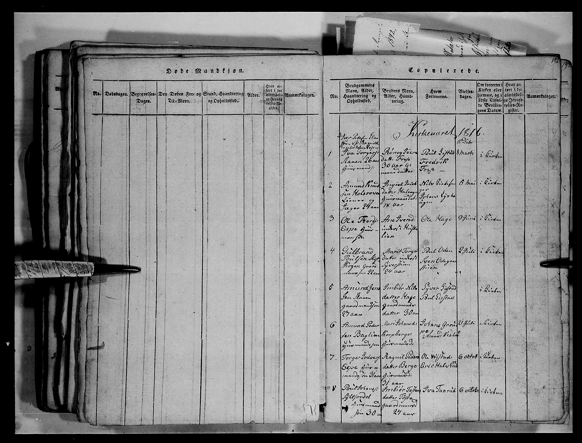 SAH, Fron prestekontor, H/Ha/Hab/L0003: Klokkerbok nr. 3, 1816-1850, s. 192