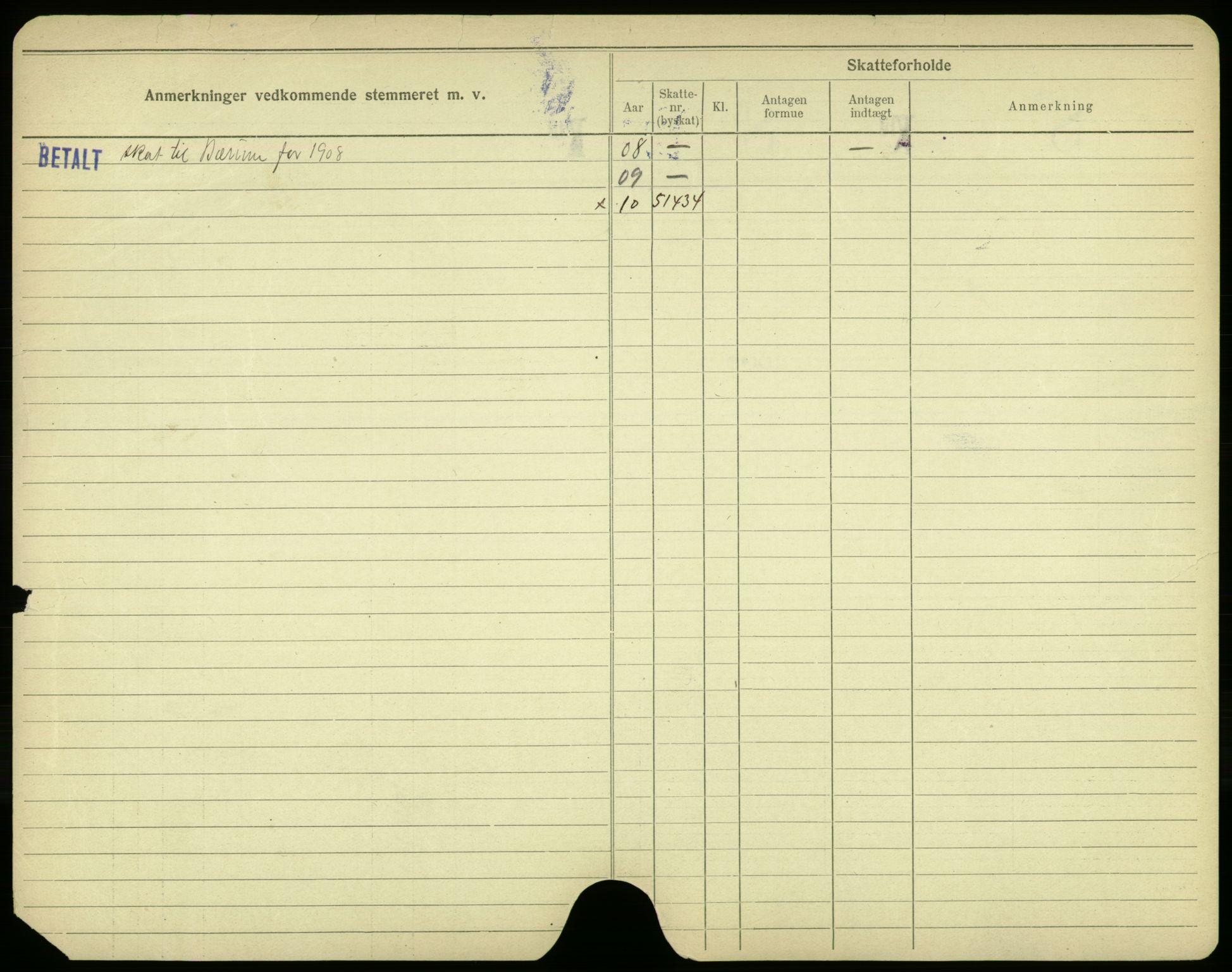 SAO, Oslo folkeregister, Registerkort, F/Fa/Fac/L0003: Menn, 1906-1914, s. 100b